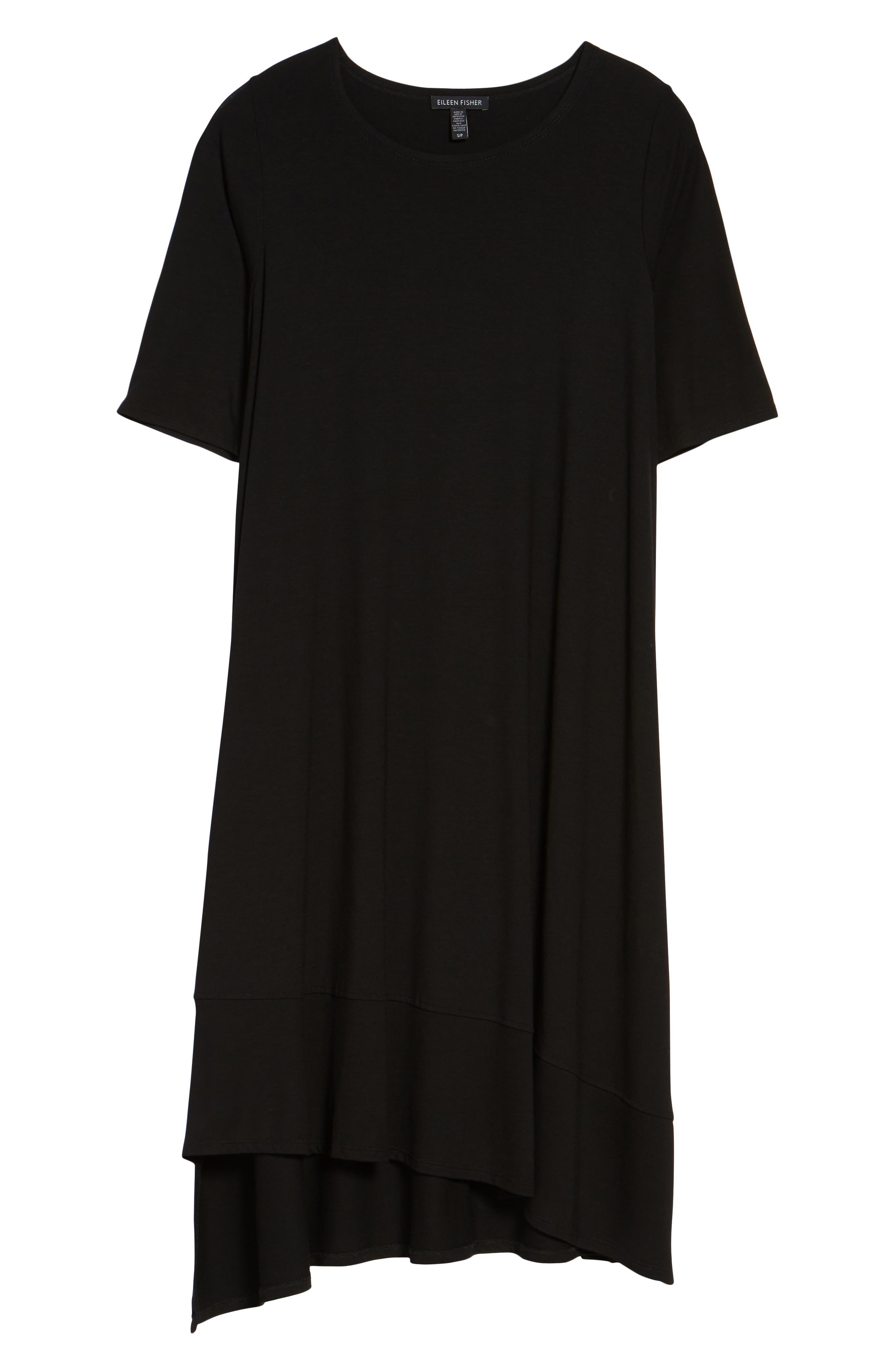 Alternate Image 6  - Eileen Fisher Jersey Asymmetrical A-Line Dress