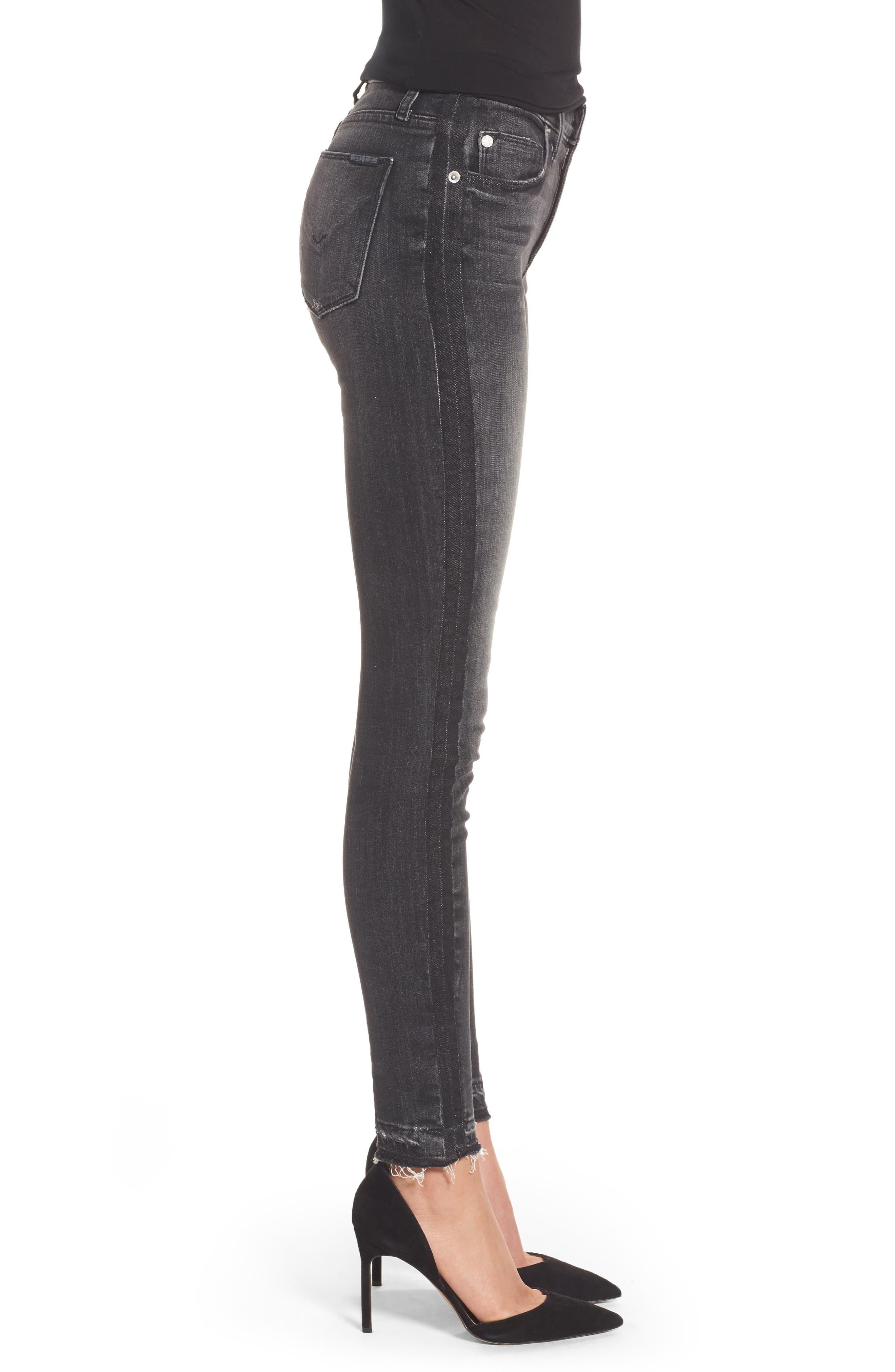 Barbara High Waist Super Skinny Jeans,                             Alternate thumbnail 3, color,                             Onix