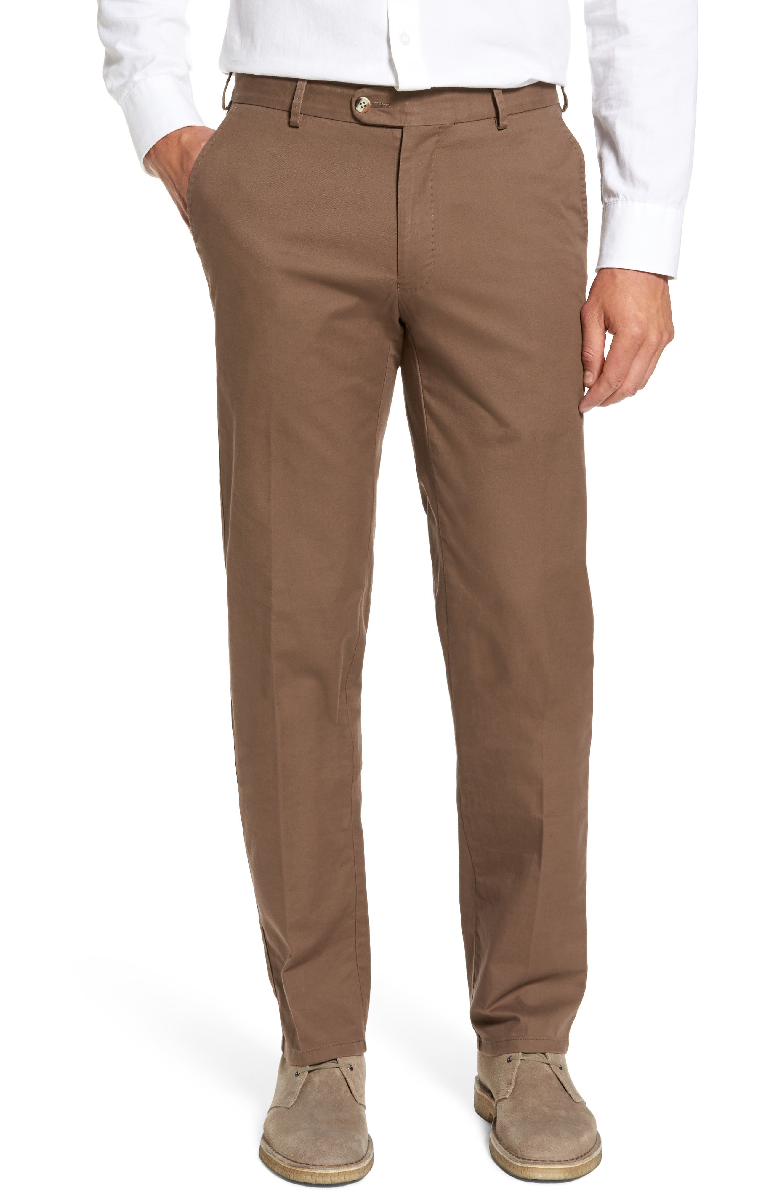 Twill Pants,                         Main,                         color, Espresso