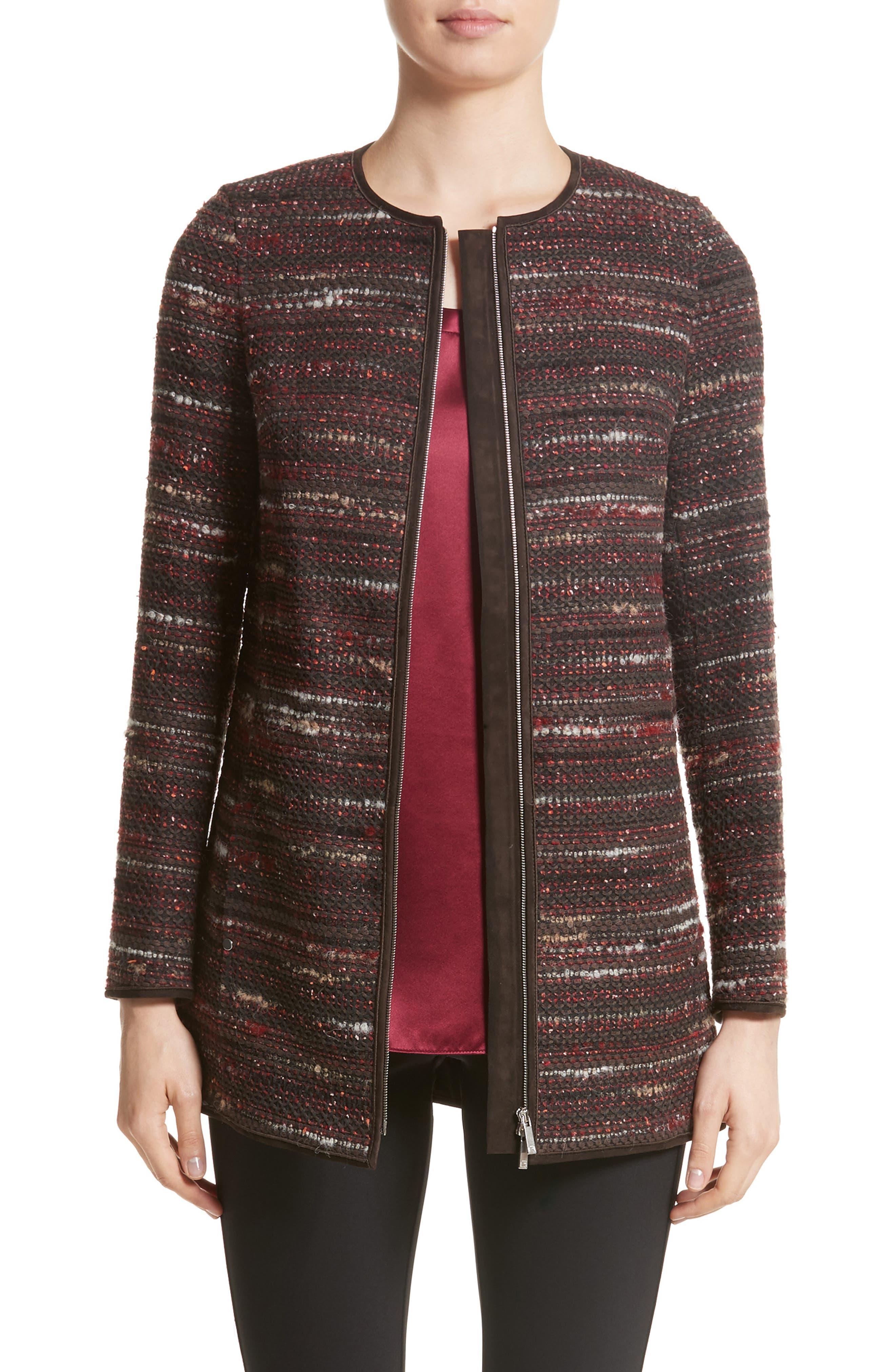 Lafayette 148 New York Pria Taverna Tweed Jacket (Nordstrom Exclusive)