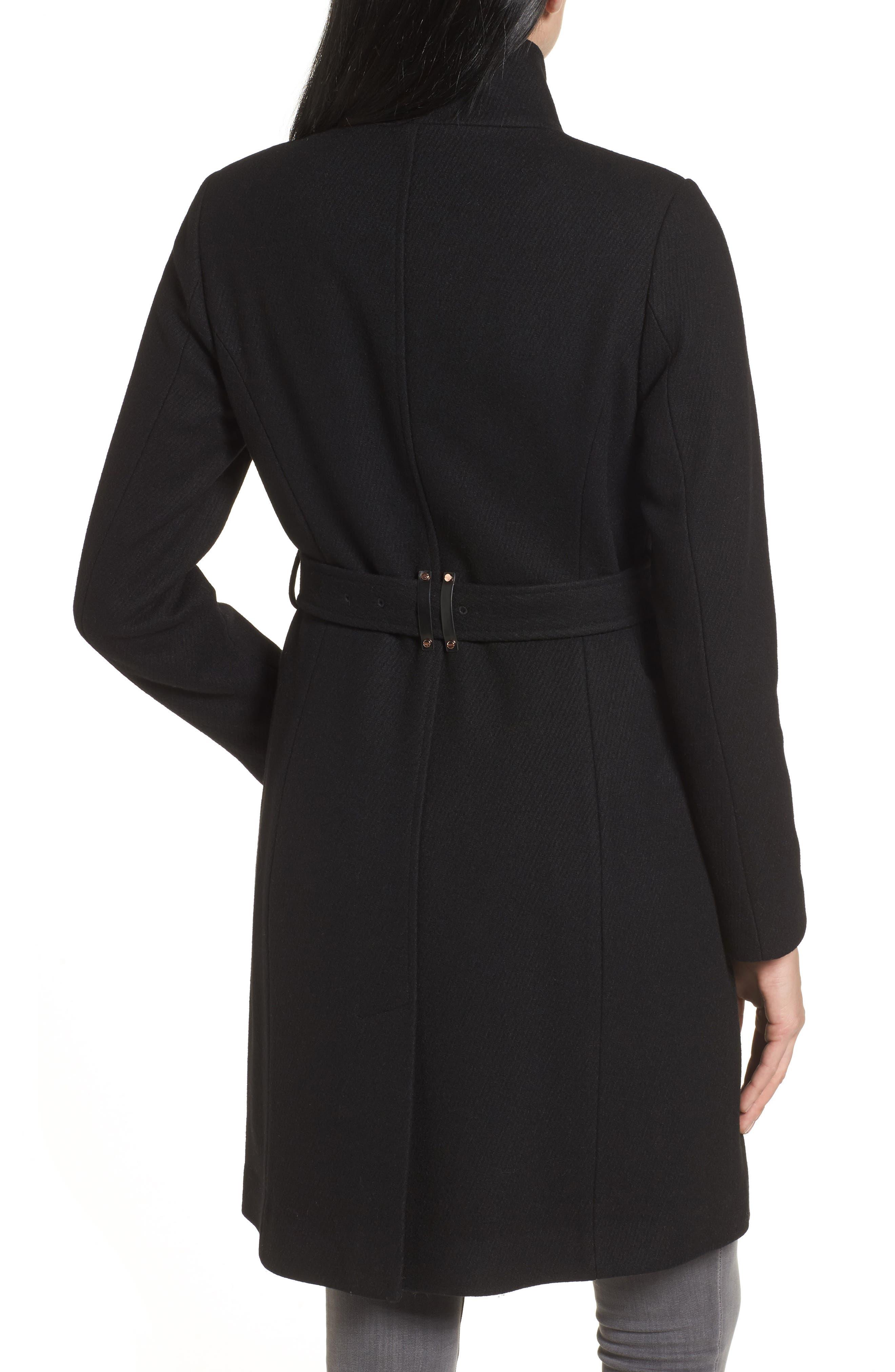 Coat,                             Alternate thumbnail 2, color,                             Black