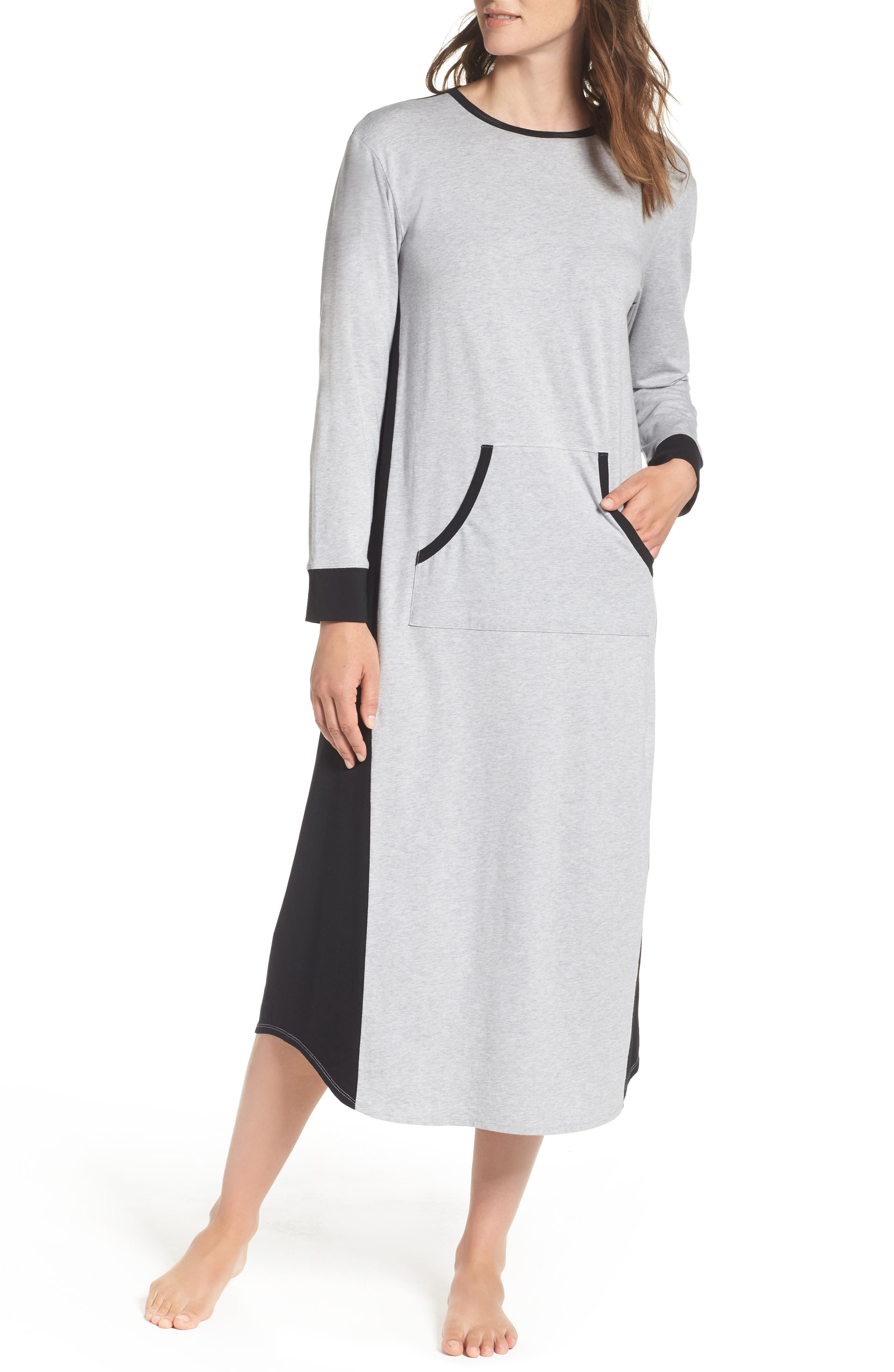 Lounger Sleep Shirt,                         Main,                         color, Metro Grey Heather