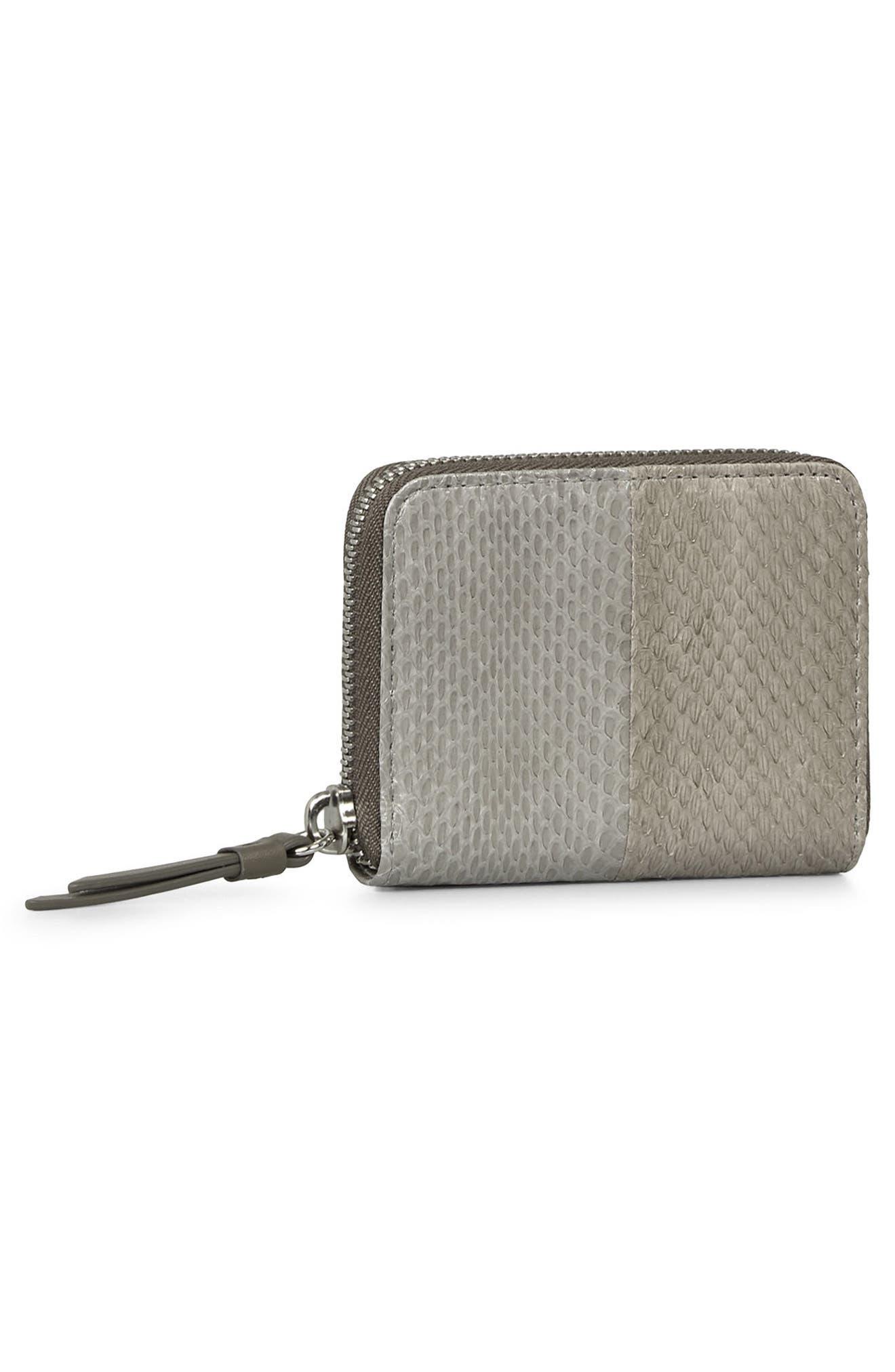 Alternate Image 3  - ALLSAINTS Ikuya Leather & Genuine Snakeskin Wallet