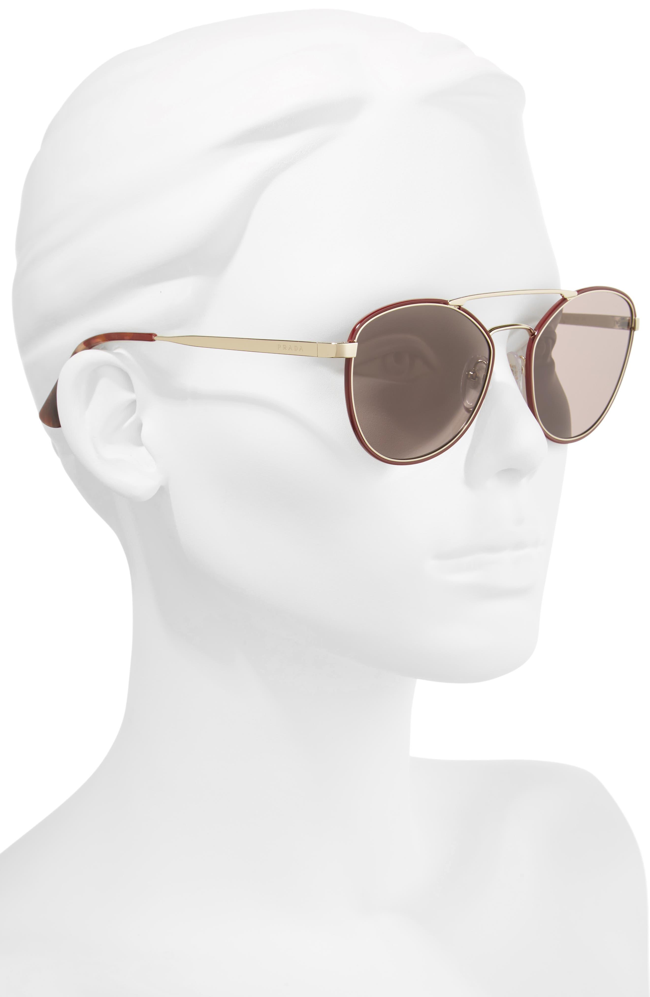 Alternate Image 2  - Prada 55mm Metal Aviator Sunglasses