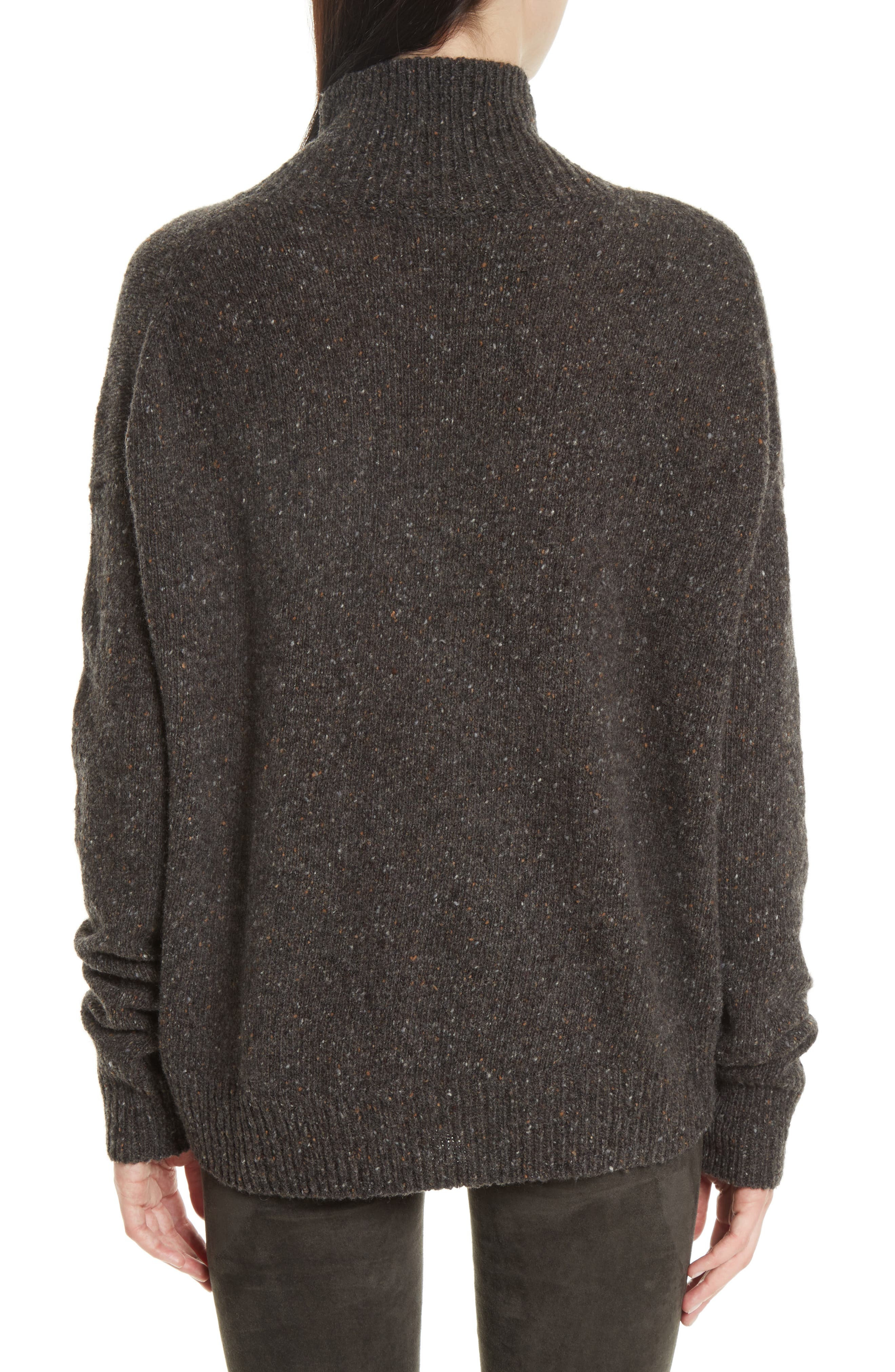 Cashmere Turtleneck Sweater,                             Alternate thumbnail 2, color,                             Charcoal
