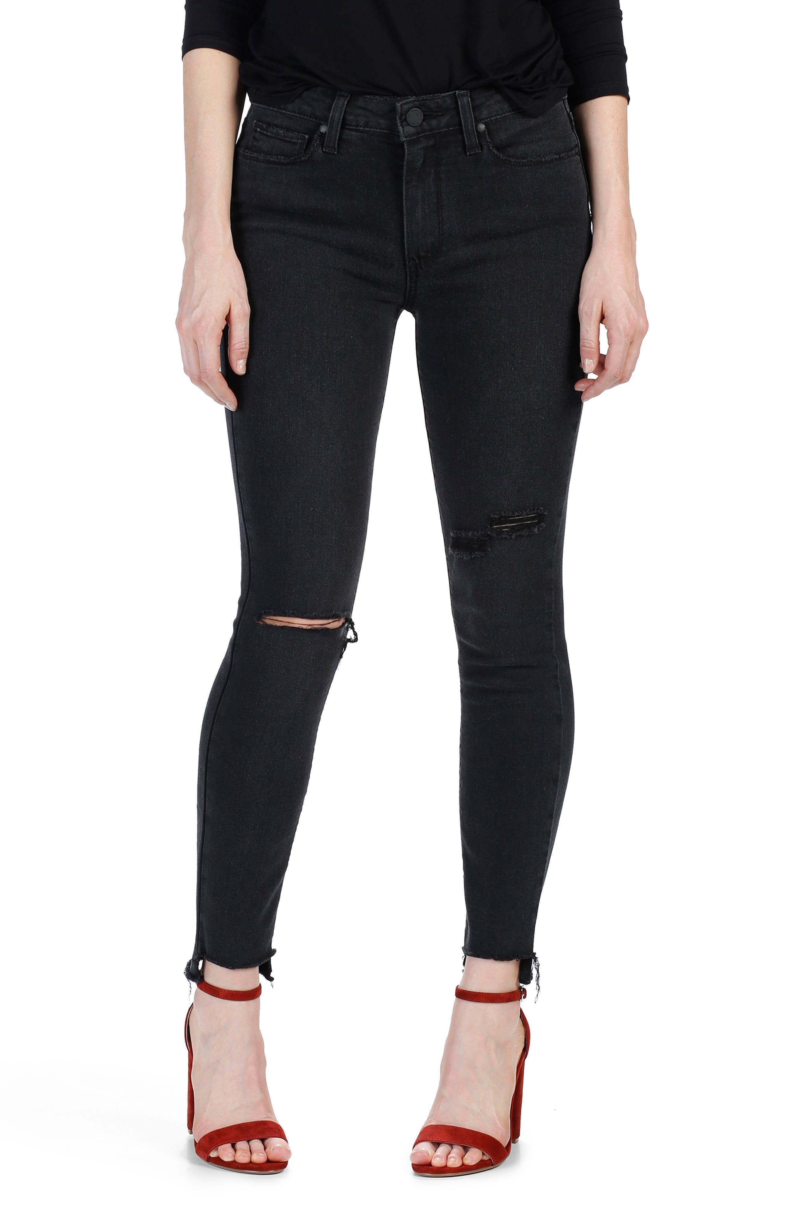 PAIGE Transcend - Hoxton Step Hem Ultra Skinny Jeans