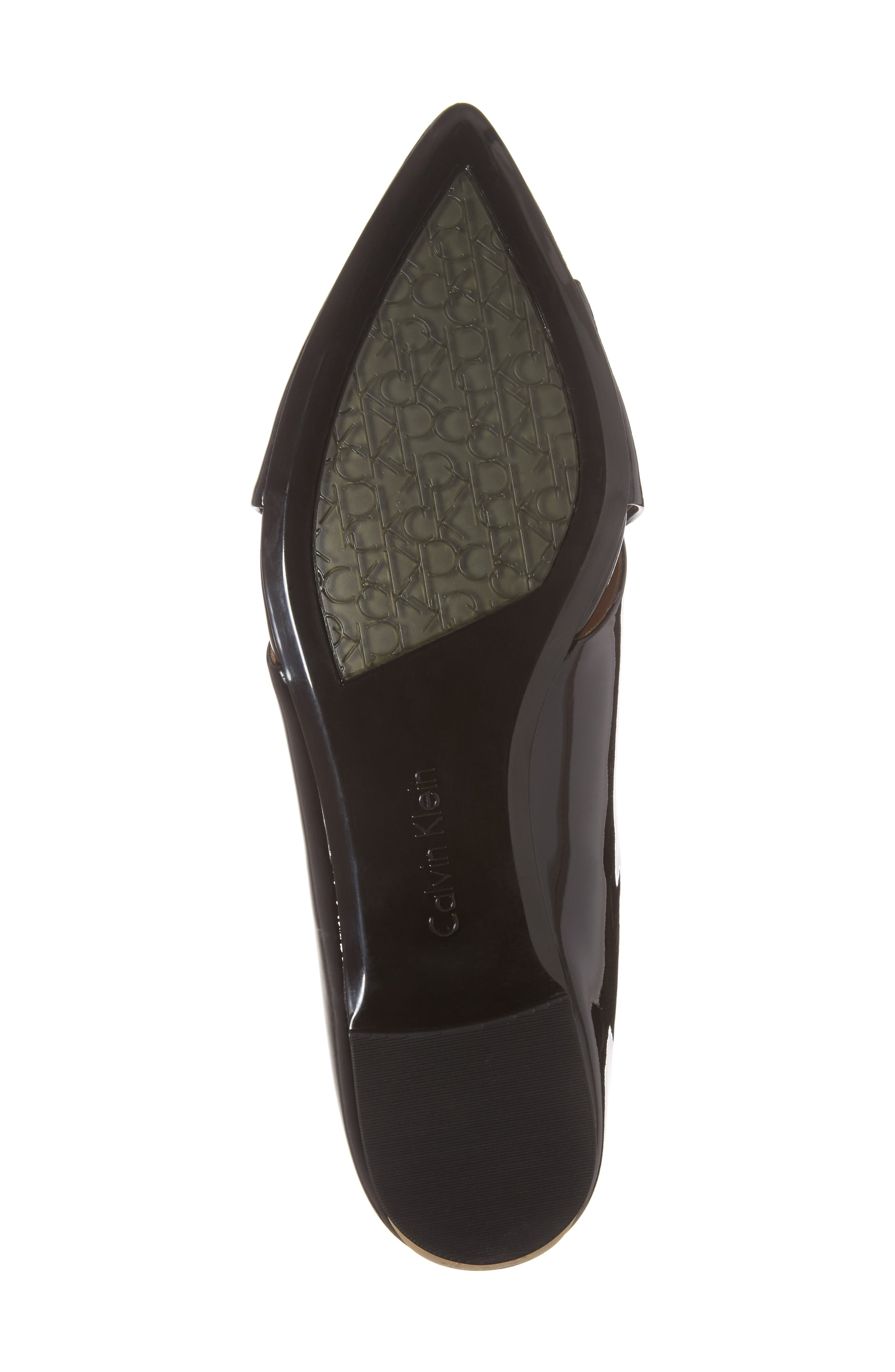 Gerda Cross Strap Mule,                             Alternate thumbnail 6, color,                             Black Patent