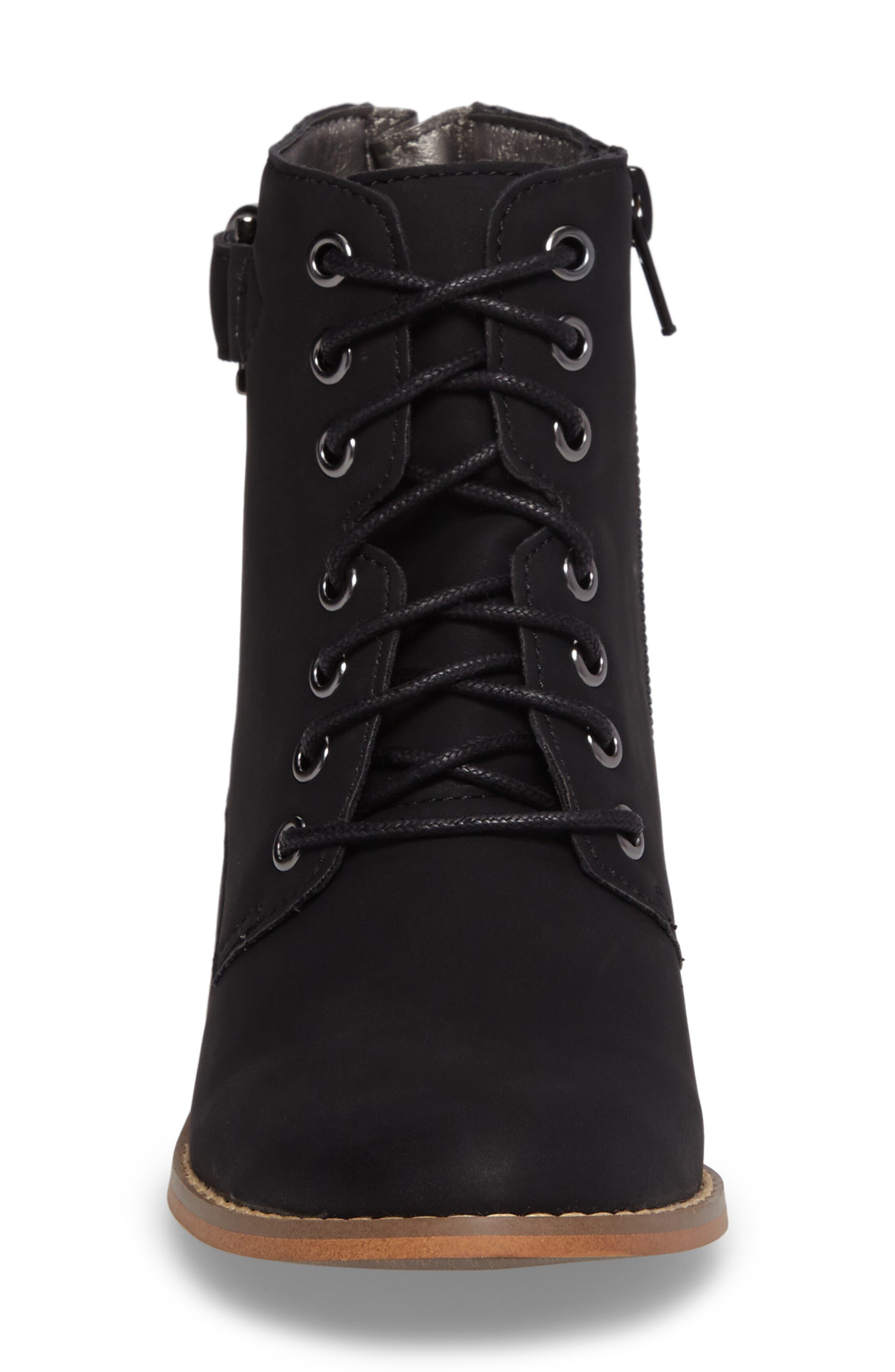 Drea Boot,                             Alternate thumbnail 4, color,                             Black Faux Leather
