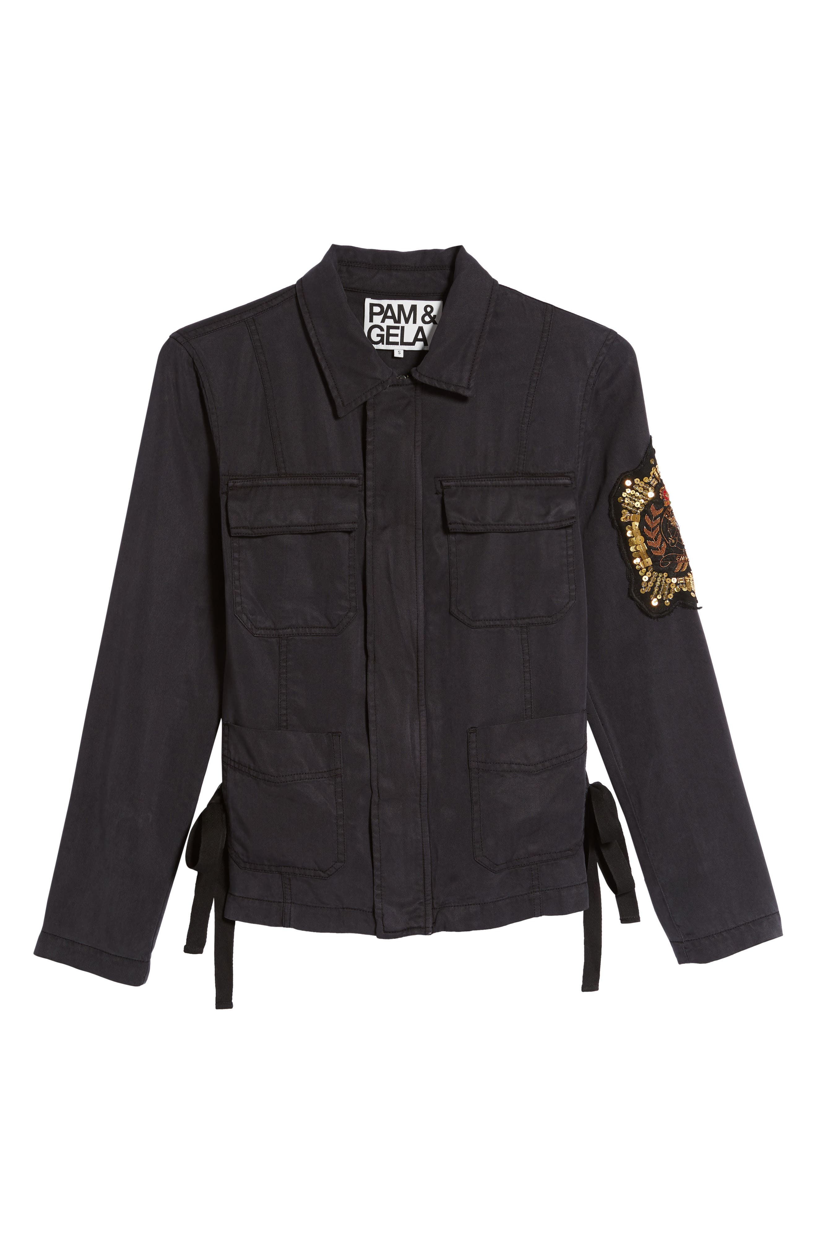 Alternate Image 6  - Pam & Gela Cargo Jacket with Crest Patch