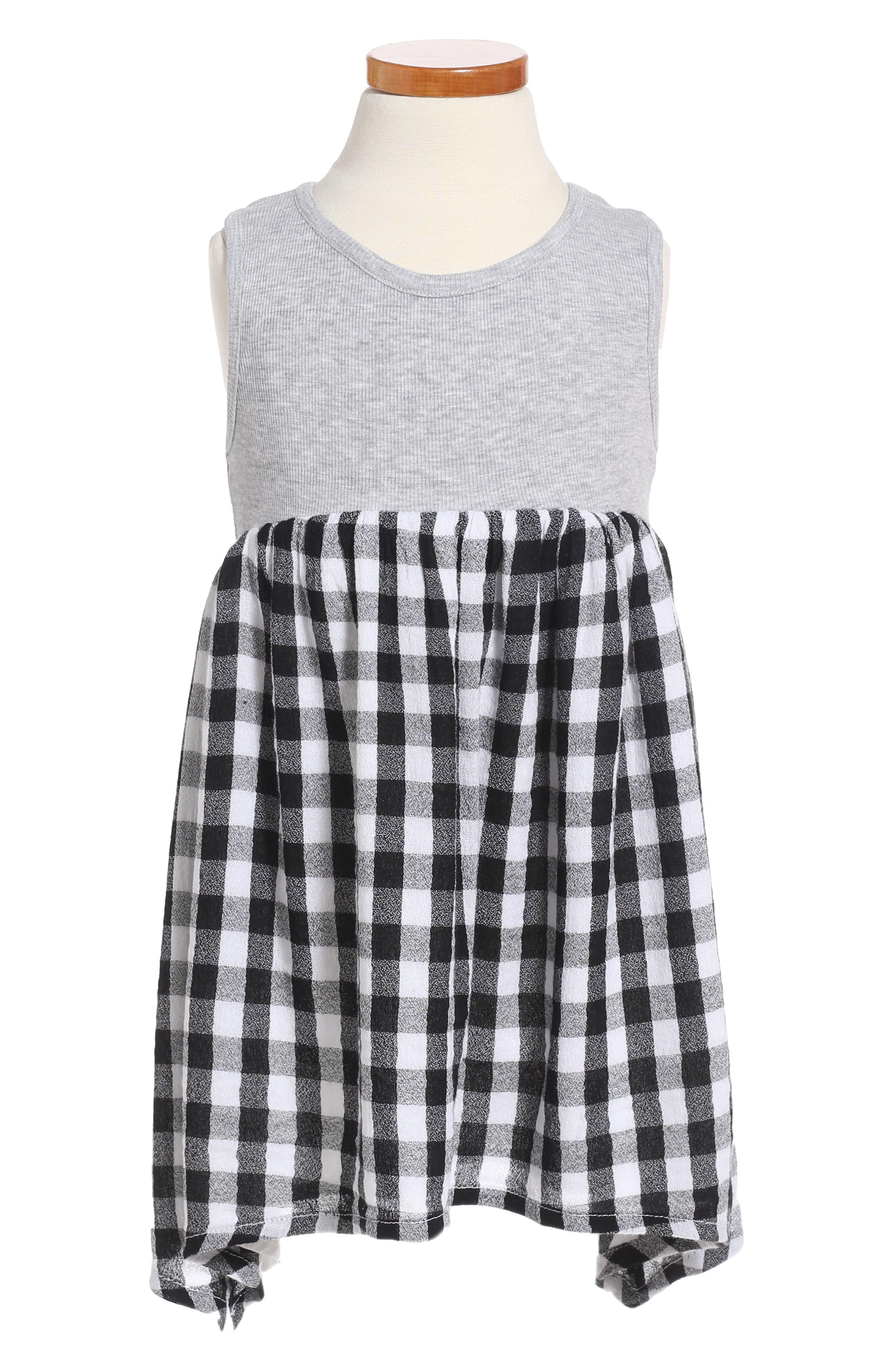 Alternate Image 1 Selected - Tucker + Tate Mixed Media Dress (Toddler Girls, Little Girls & Big Girls)