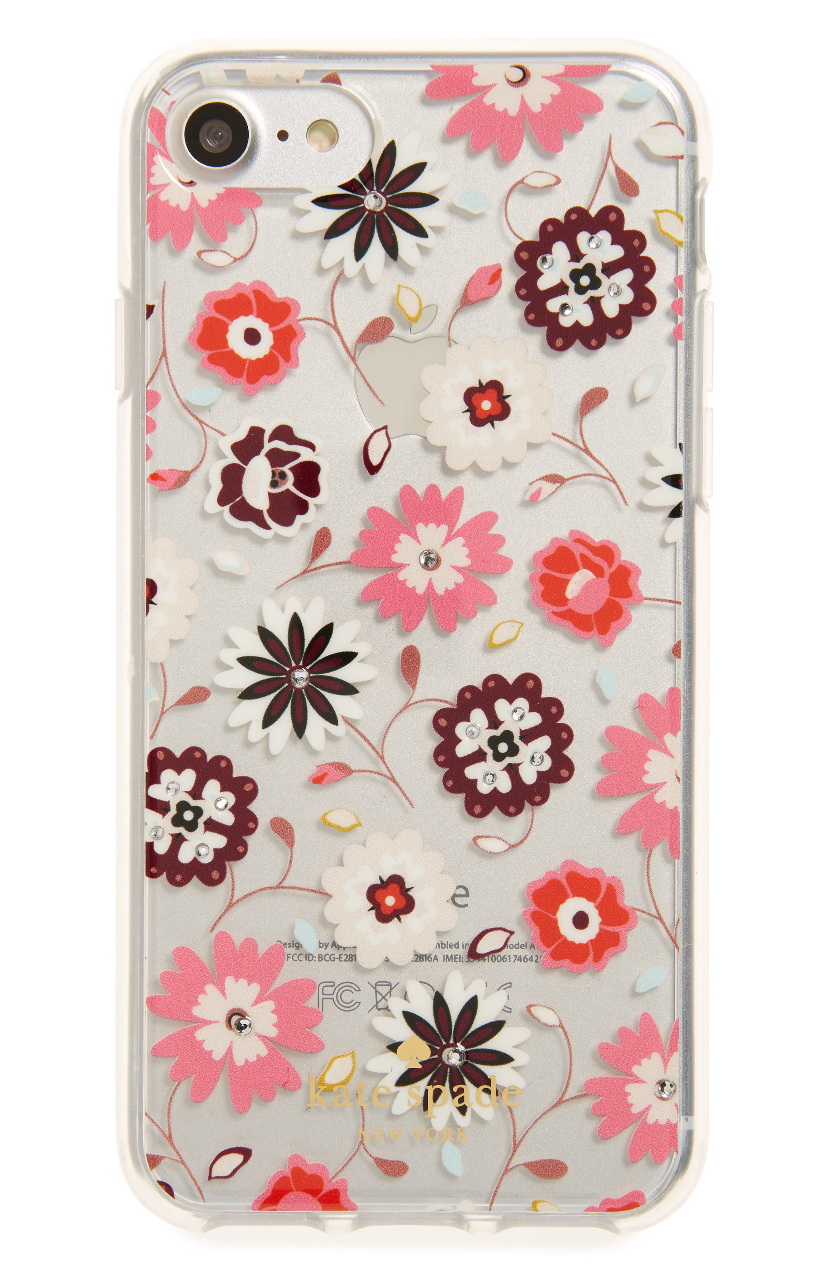 kate spade new york jeweled casa flora iPhone 7 & 7s case