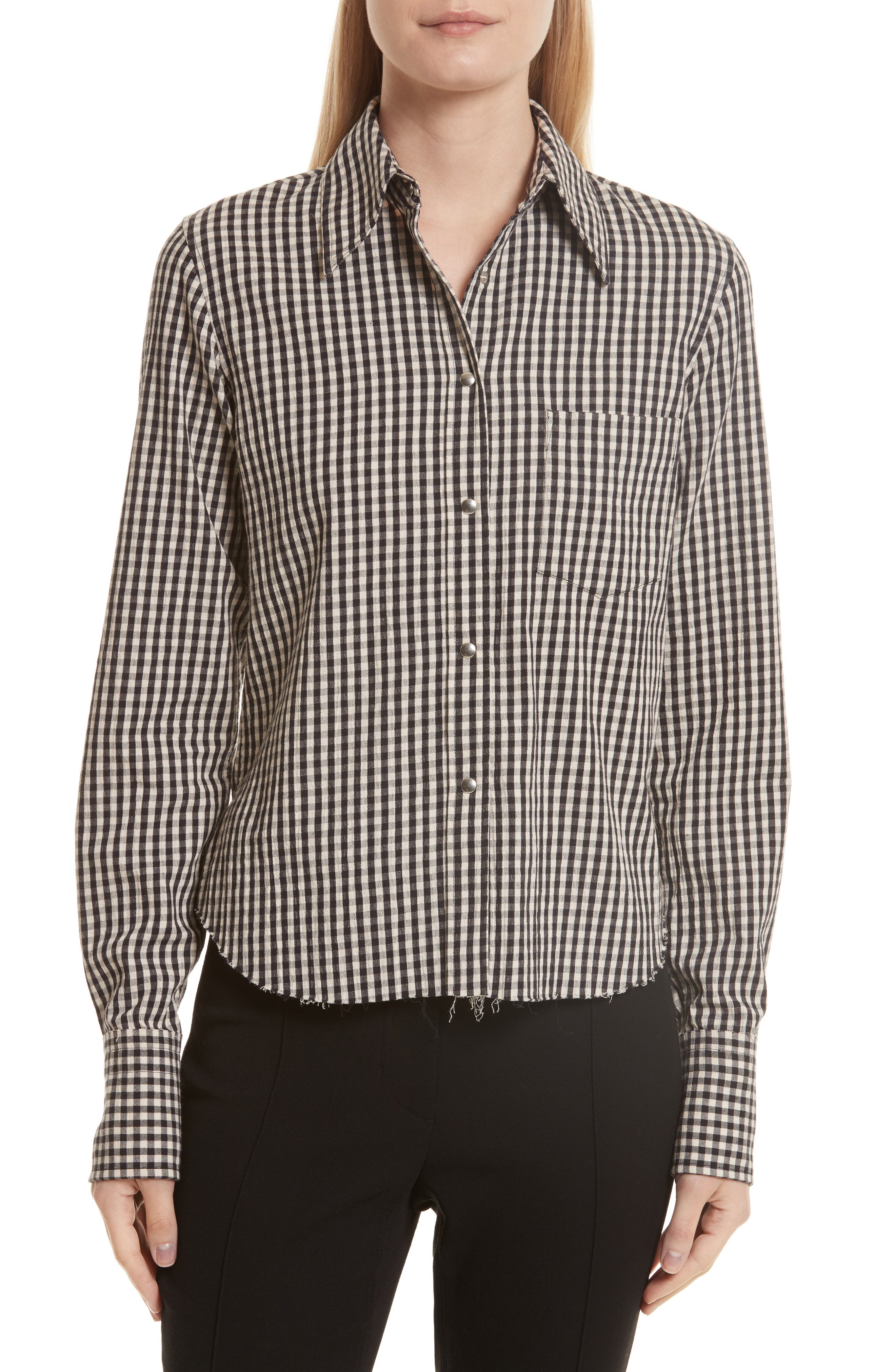 Alternate Image 1 Selected - Helmut Lang Gingham Check Shirt