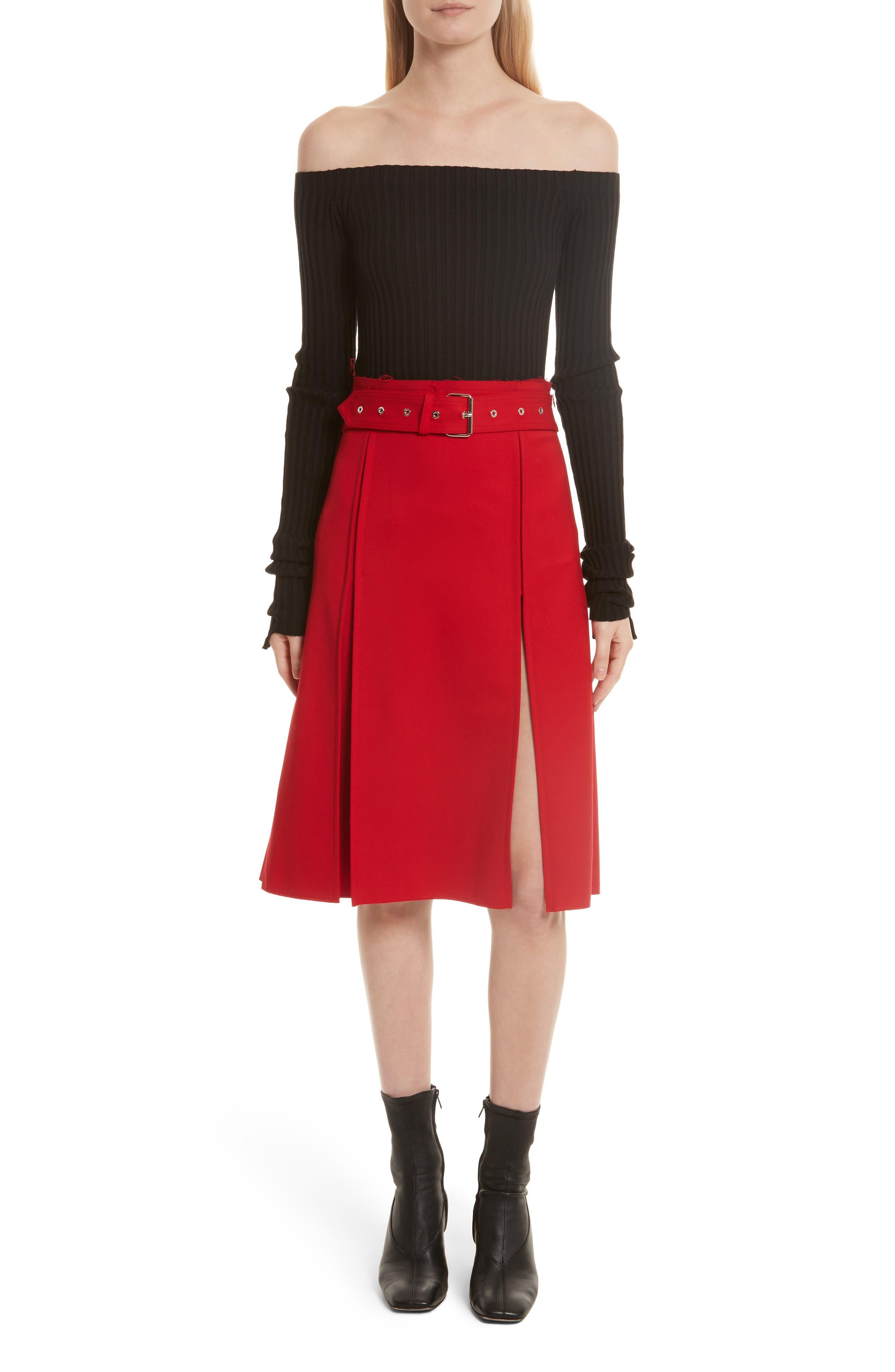 Alternate Image 2  - Helmut Lang Knit Silk Off the Shoulder Sweater