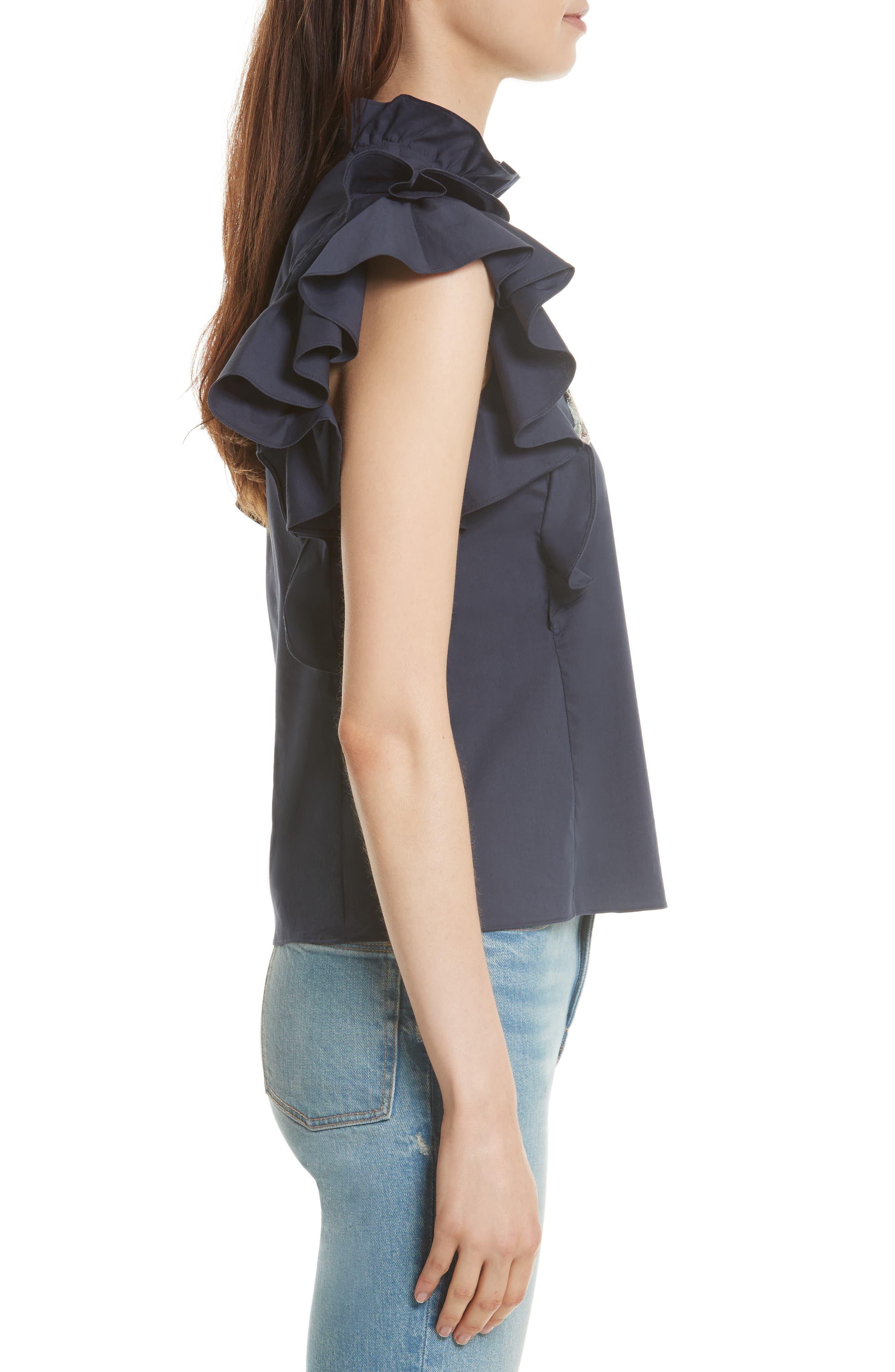 Alternate Image 3  - Rebecca Taylor Embellished Sateen Top