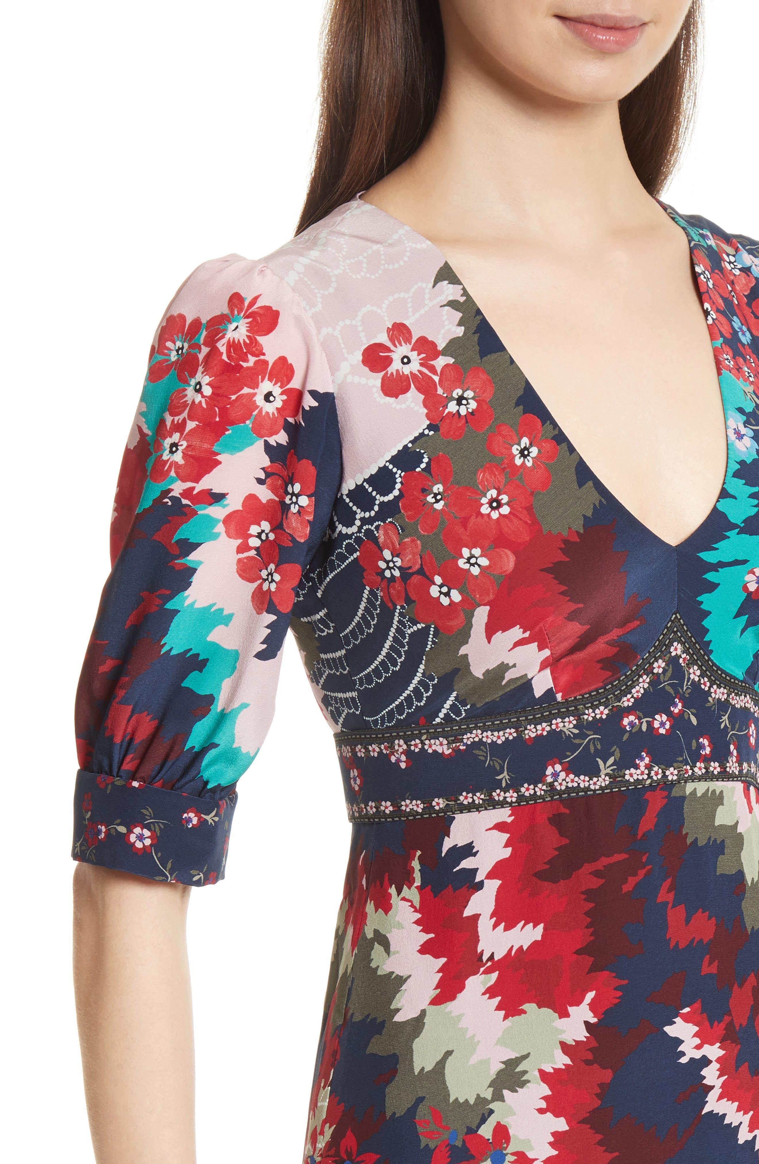 Alternate Image 4  - SALONI Vera-B Silk Minidress