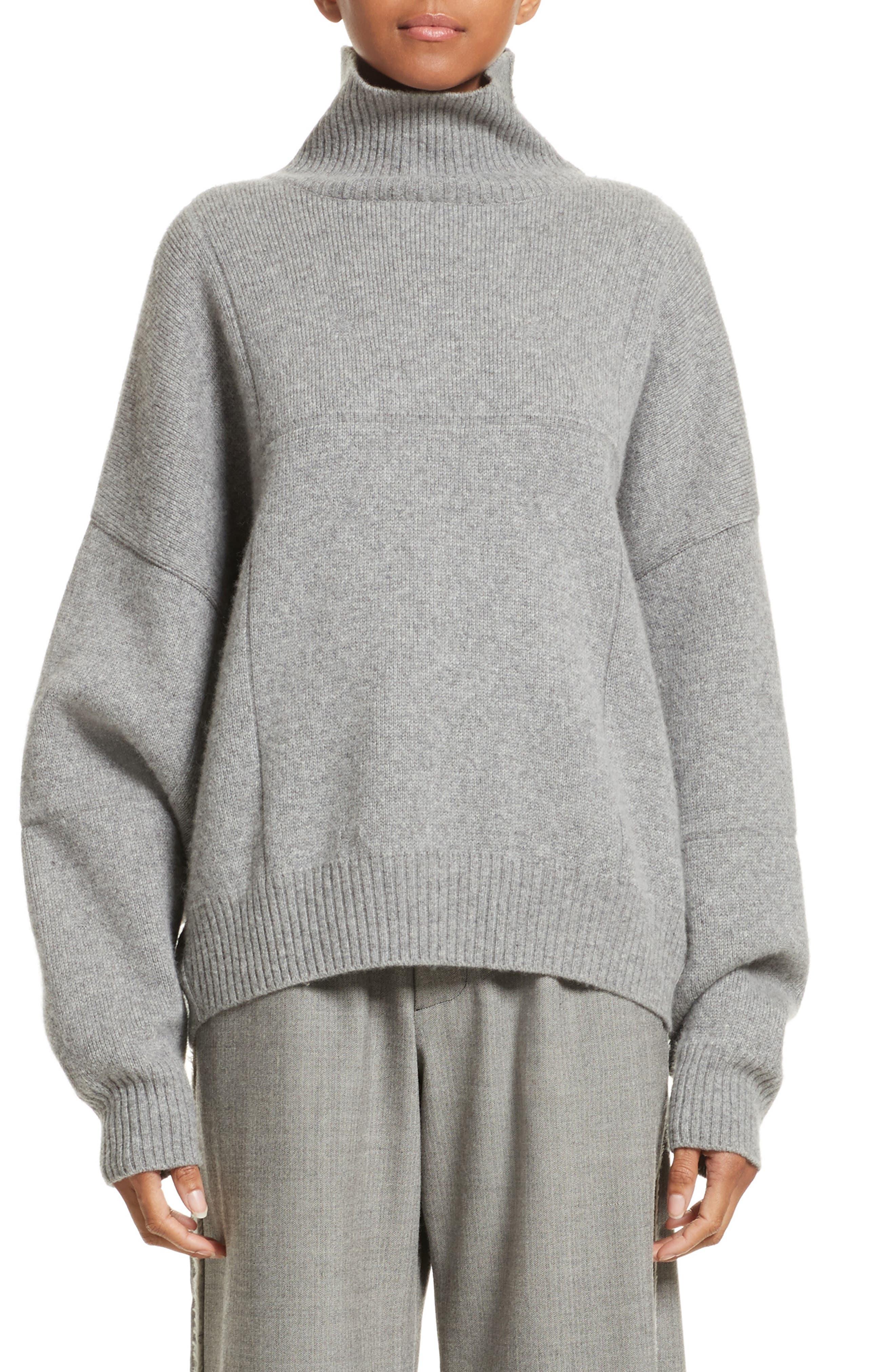 Concrete Wool Turtleneck Sweater,                         Main,                         color, Light Grey