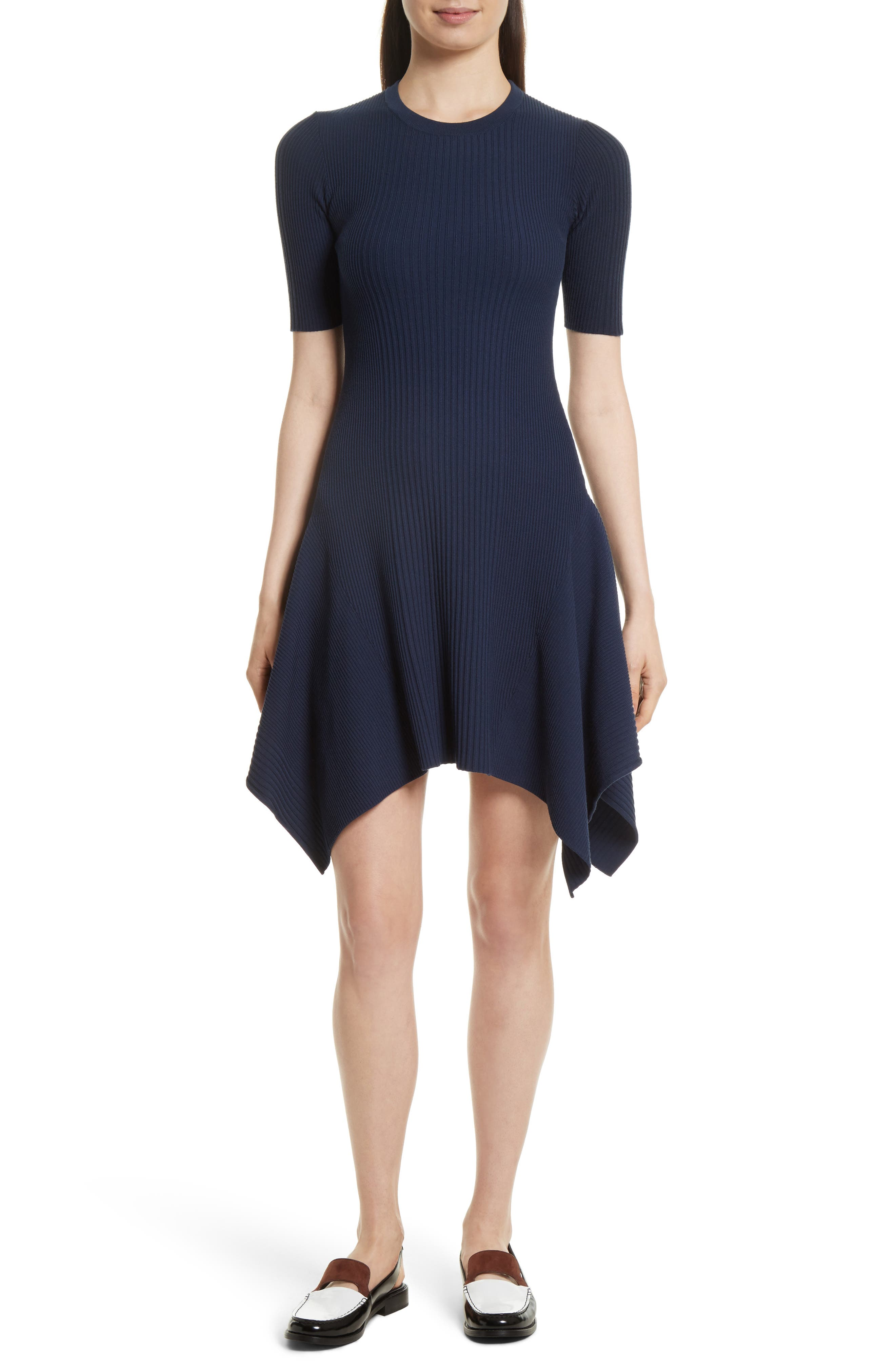 Delta Rib Knit Dress,                         Main,                         color, Eclipse