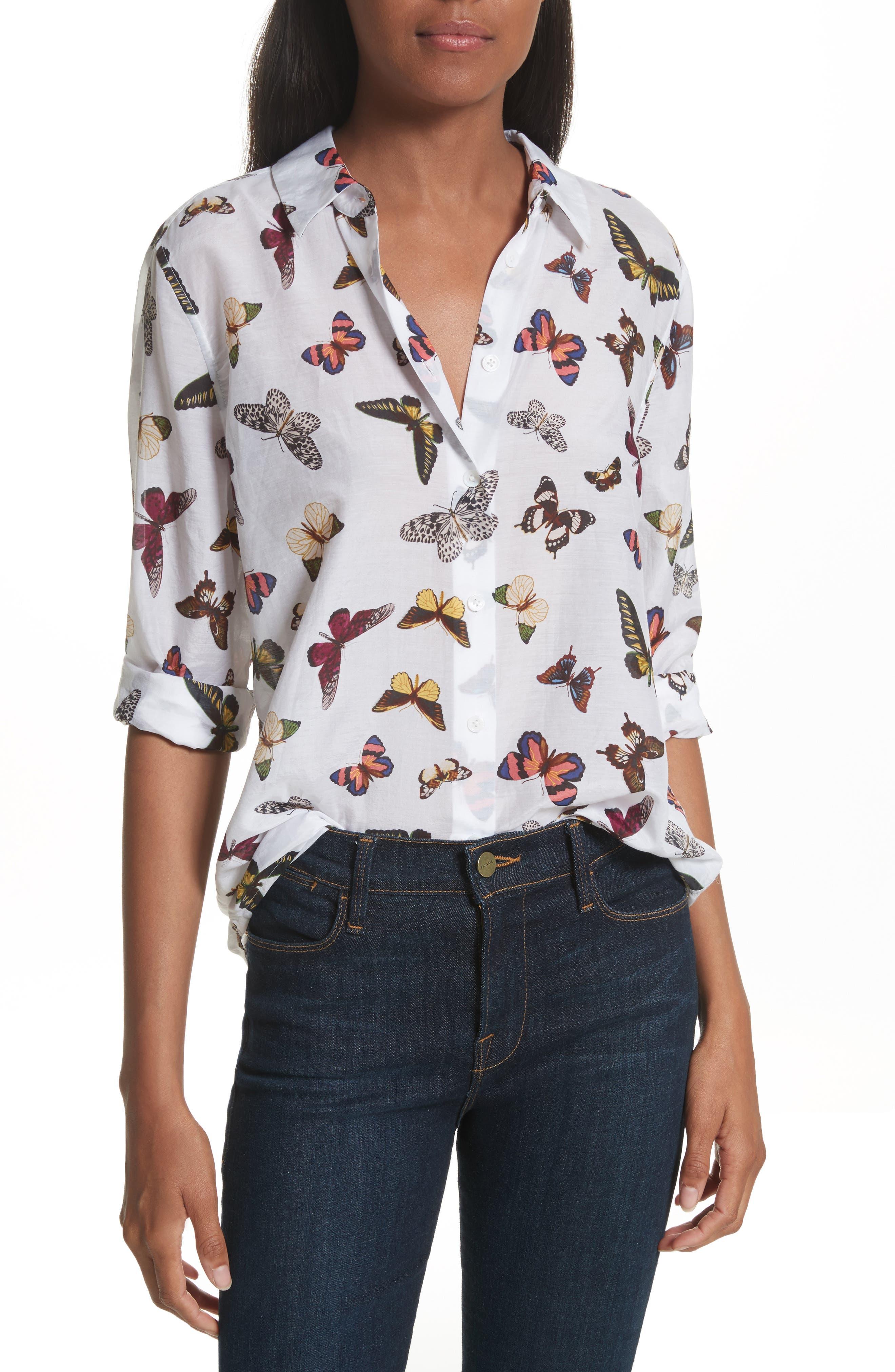 EQUIPMENT Essential Sheer Cotton & Silk Shirt