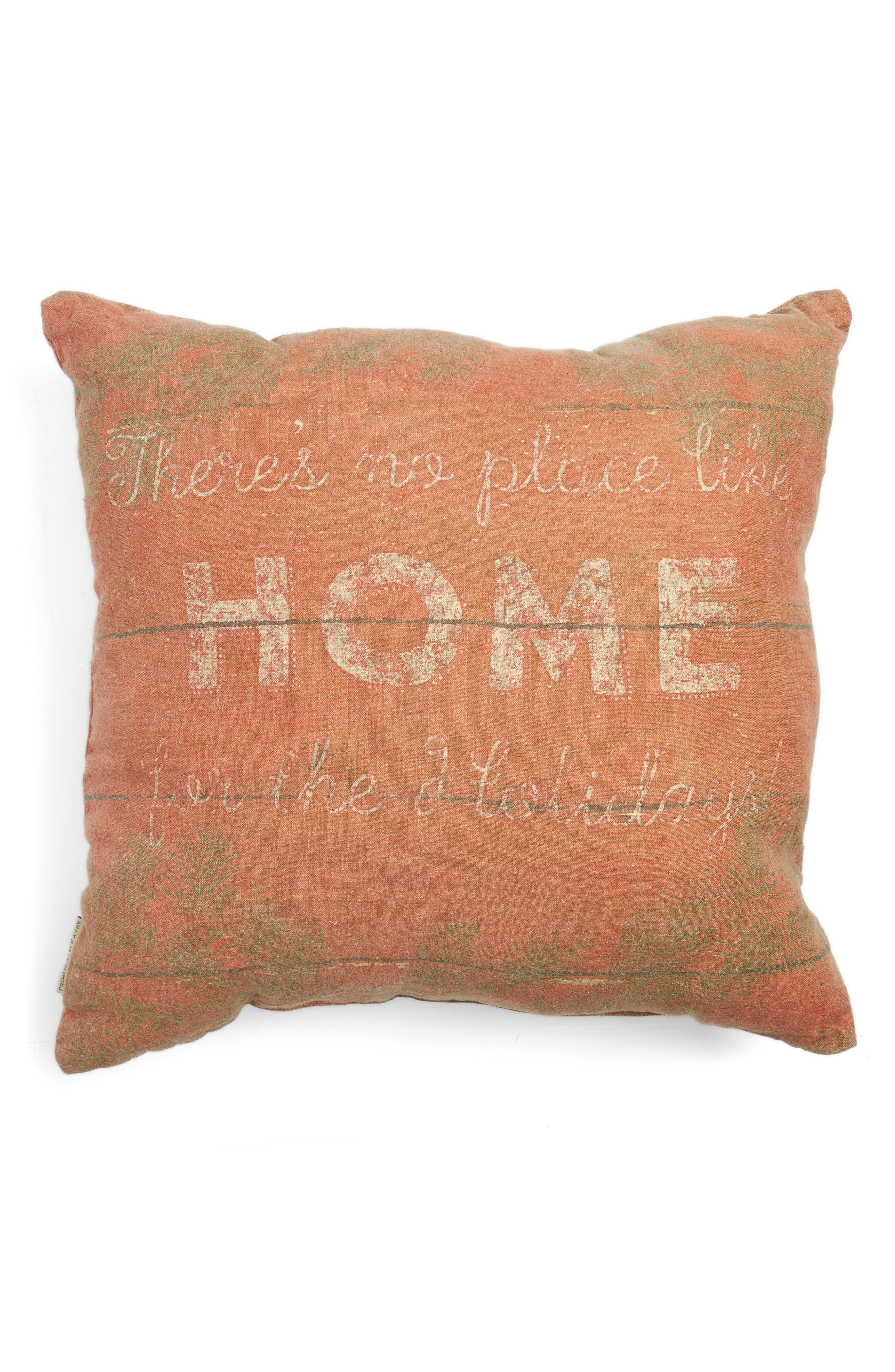 Home For Christmas Accent Pillow,                             Alternate thumbnail 2, color,                             Red