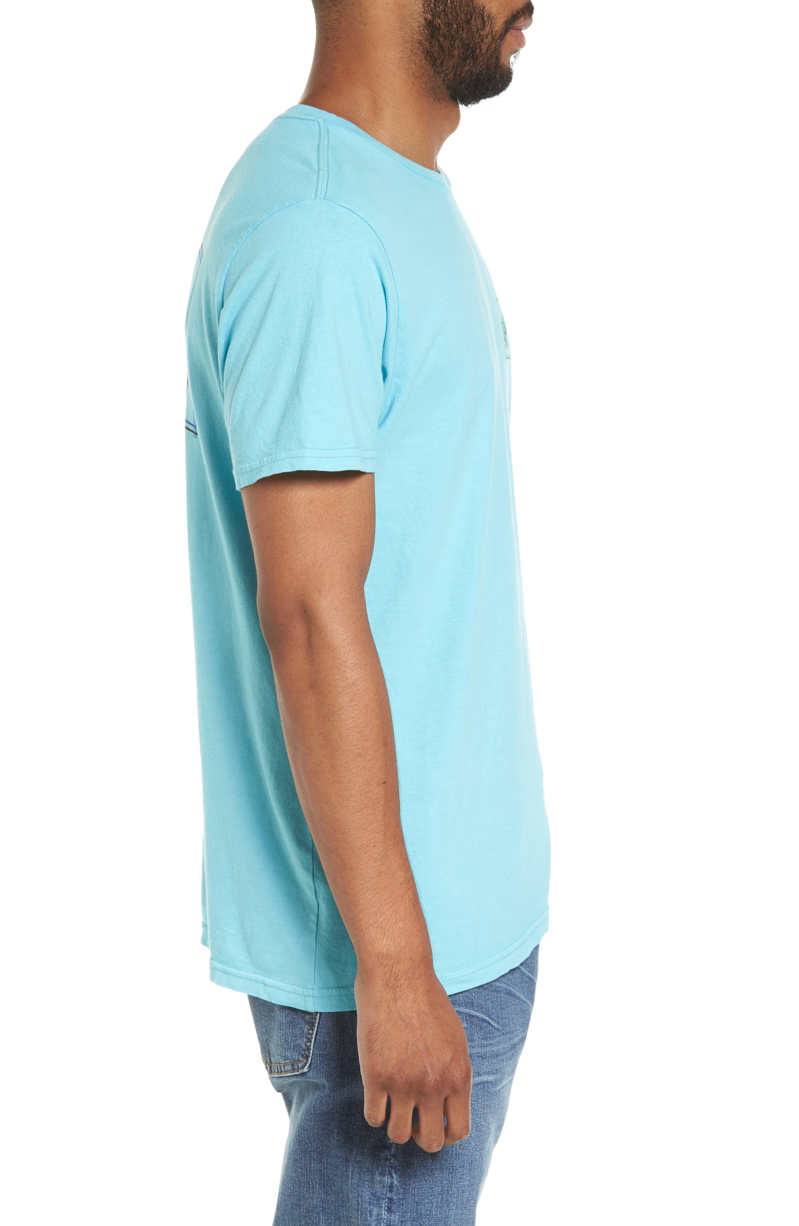Boxed Arch T-Shirt,                             Alternate thumbnail 3, color,                             Aqua