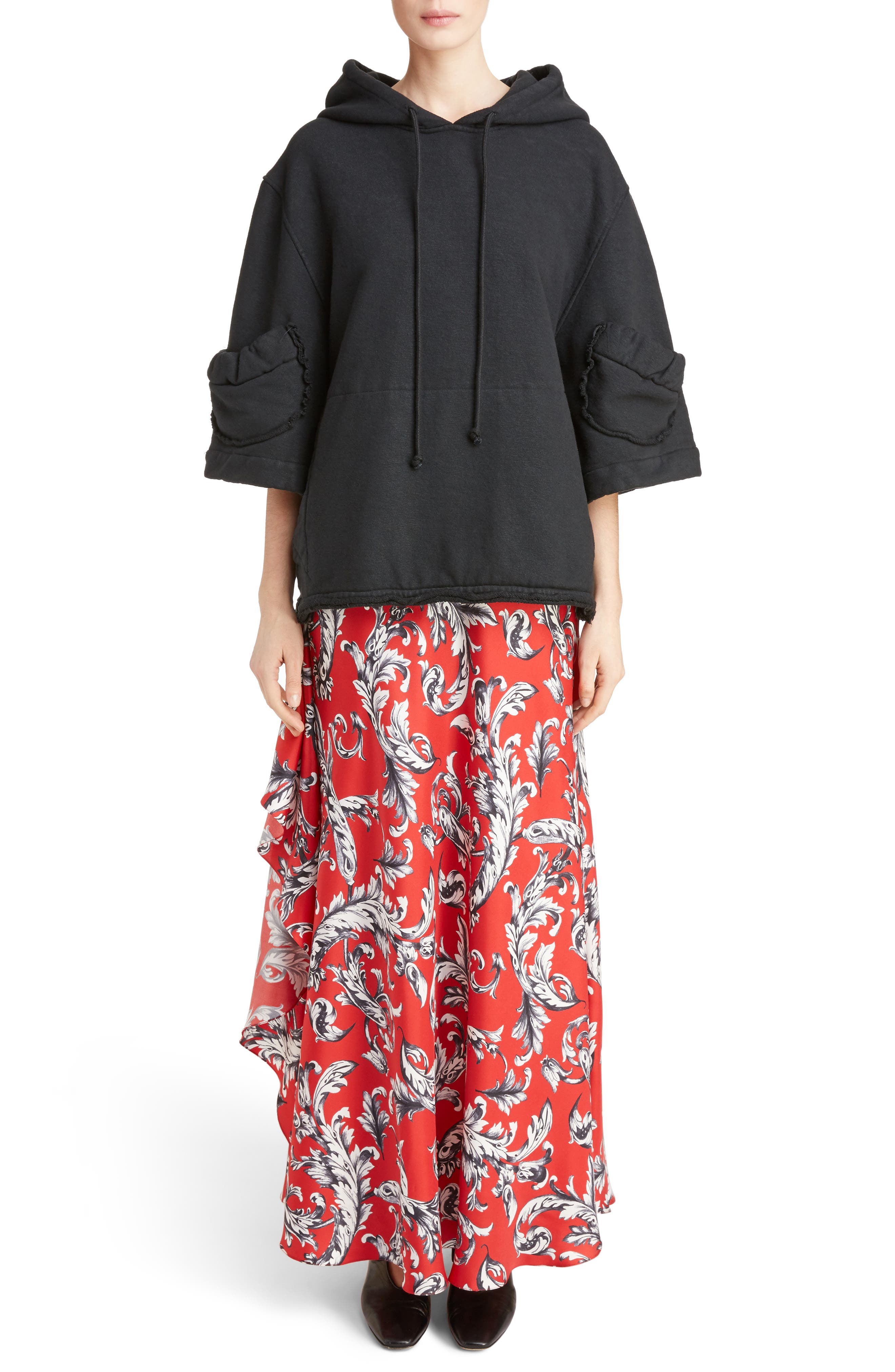 Alternate Image 6  - J.W.ANDERSON Filigree Print Asymmetrical Maxi Skirt