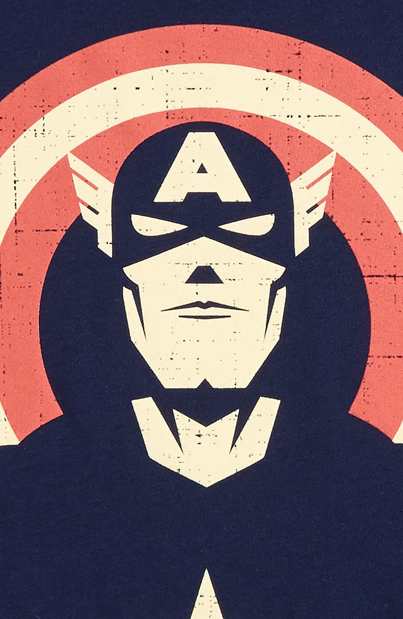 Captain America Graphic T-Shirt,                             Alternate thumbnail 2, color,                             Navy