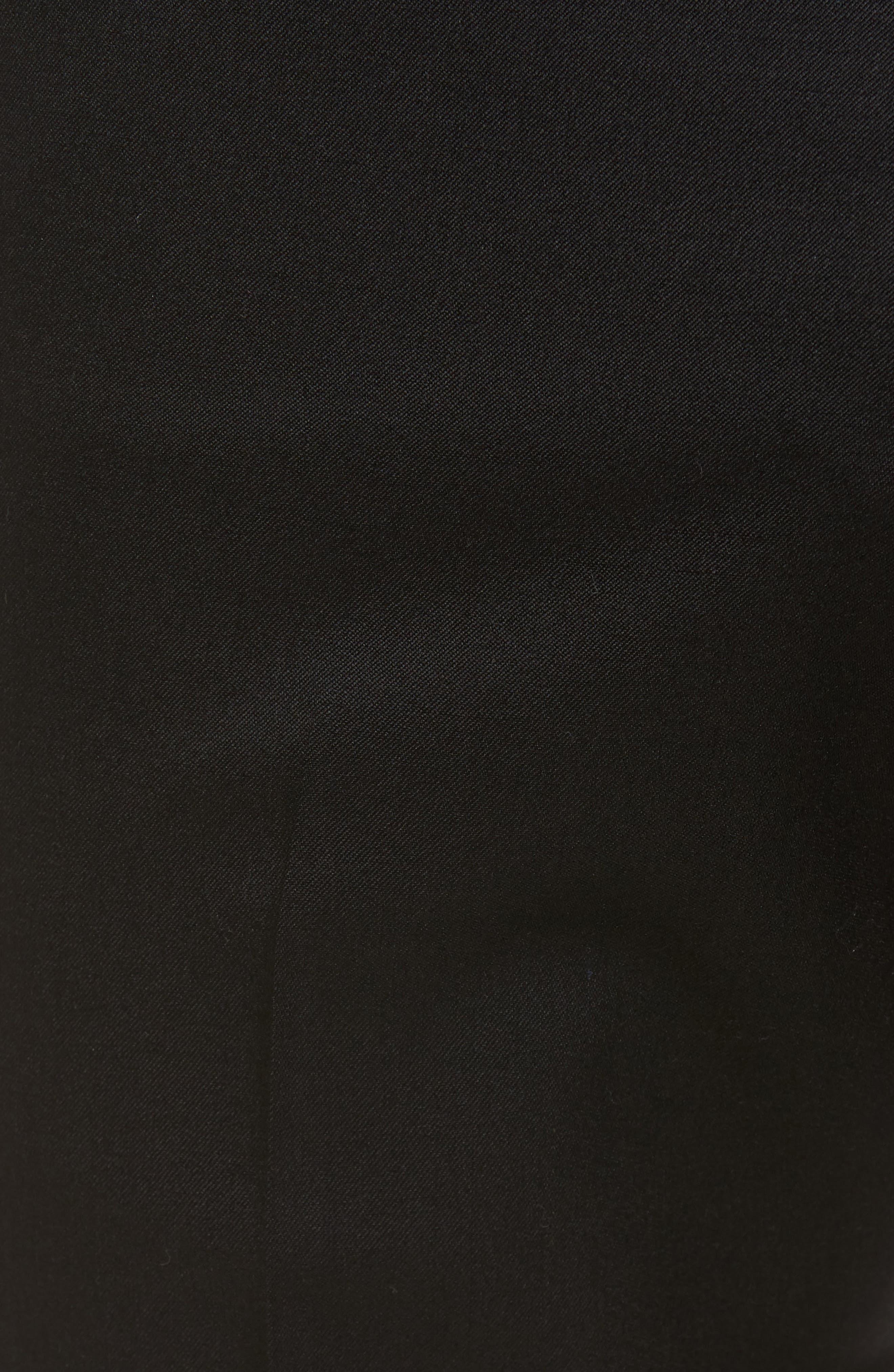 Slim Wool Trousers,                             Alternate thumbnail 5, color,                             Black Caviar