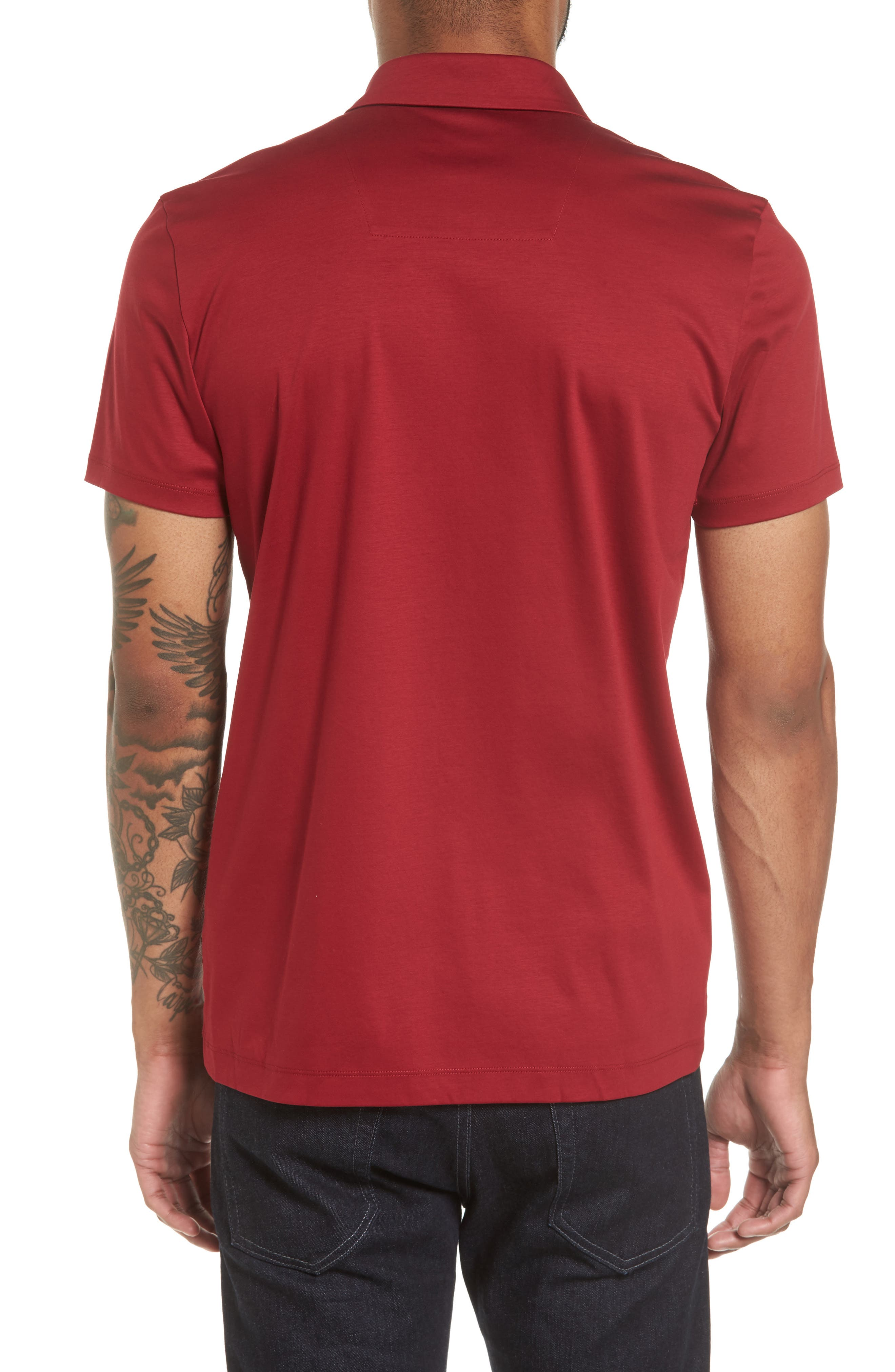 Alternate Image 2  - BOSS Press 21 Solid Regular Fit Polo