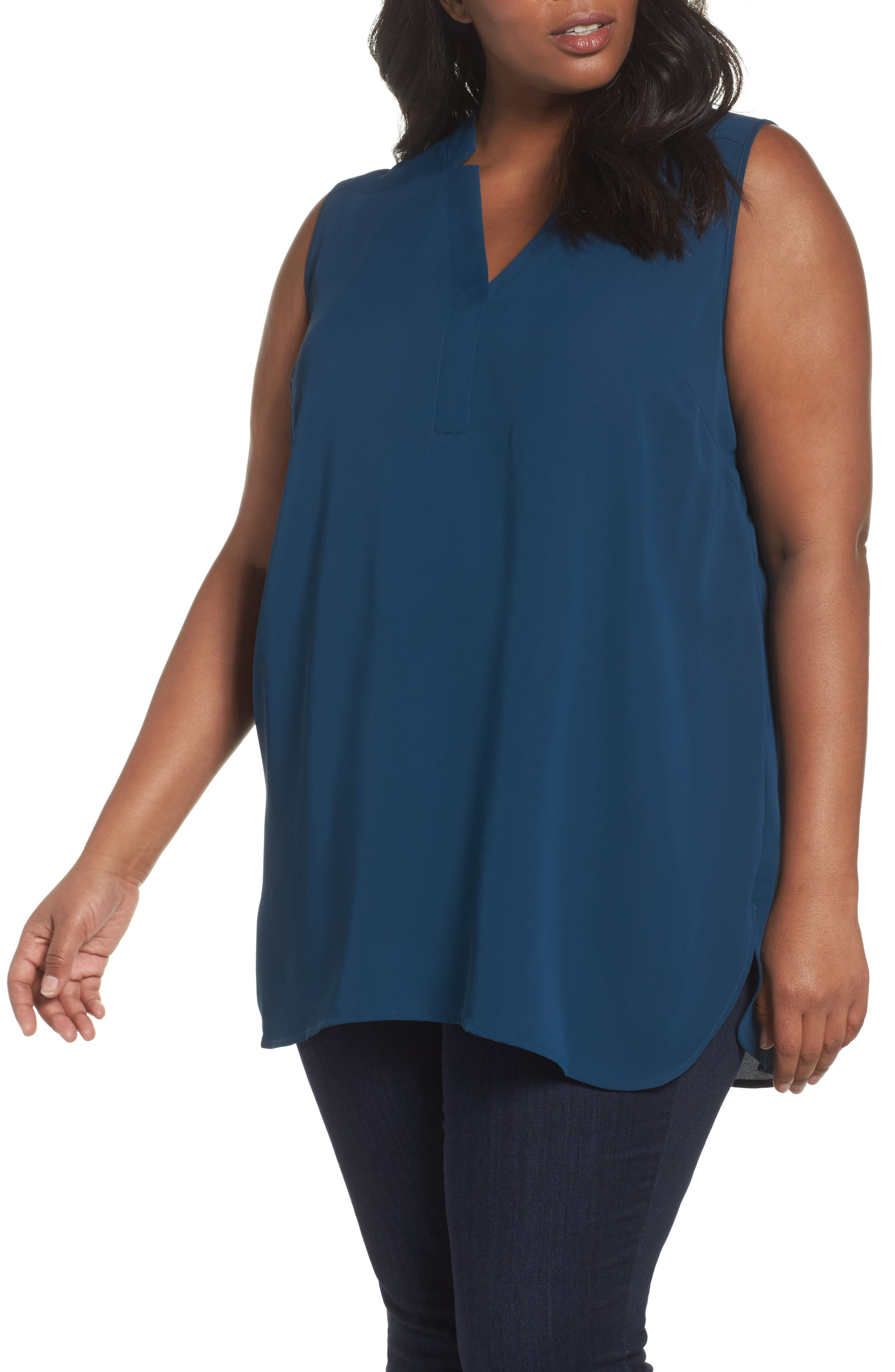 Alternate Image 1 Selected - NIC+ZOE Forget Me Not Top (Plus Size)