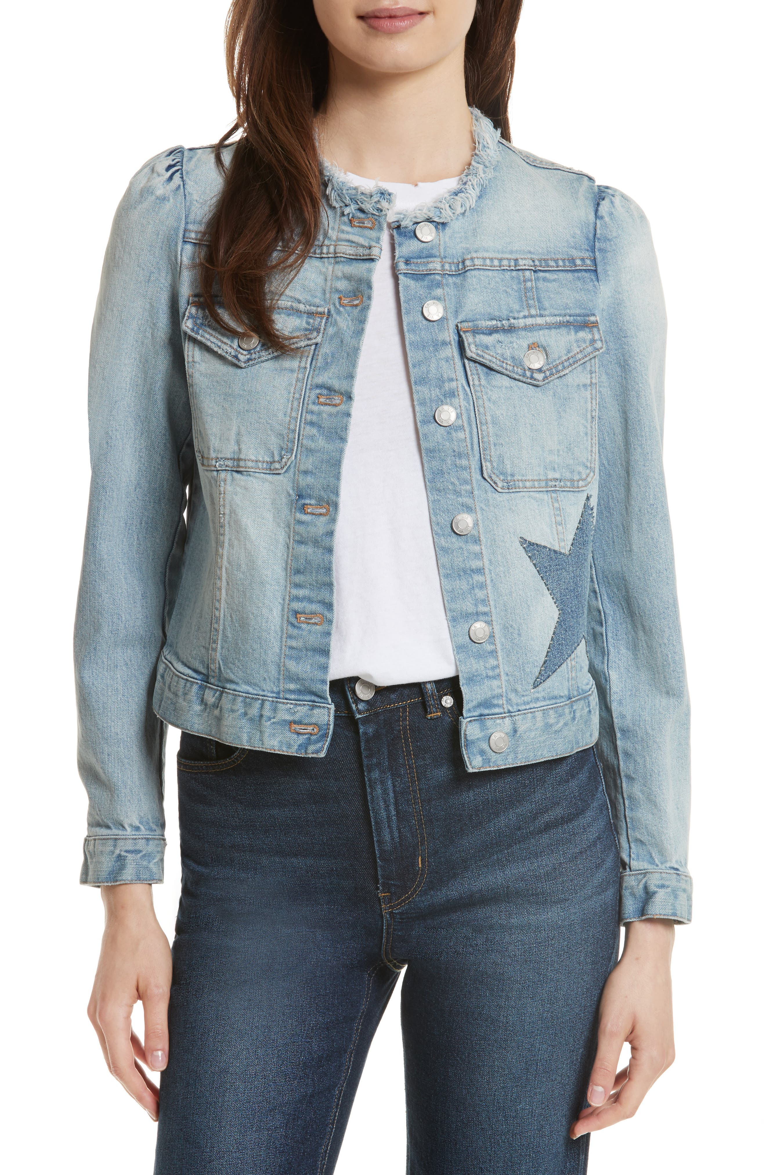 La Vie Rebecca Taylor Star Patch Denim Jacket