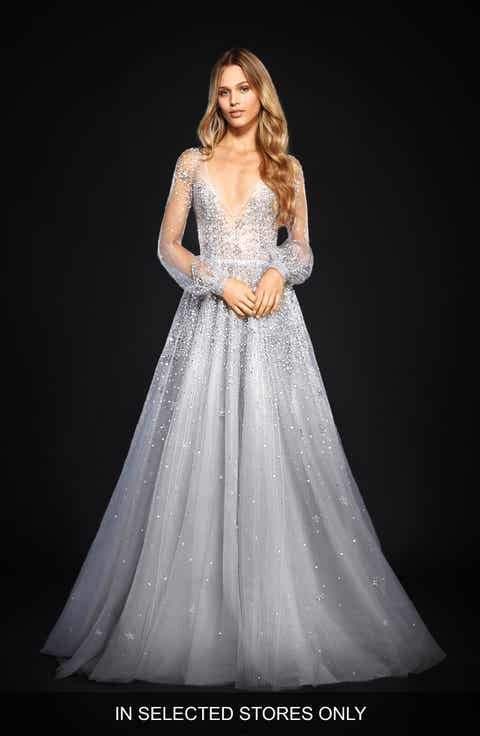 Womens wedding dresses bridal gowns nordstrom hayley paige lumi embellished long sleeve tulle ballgown junglespirit Choice Image