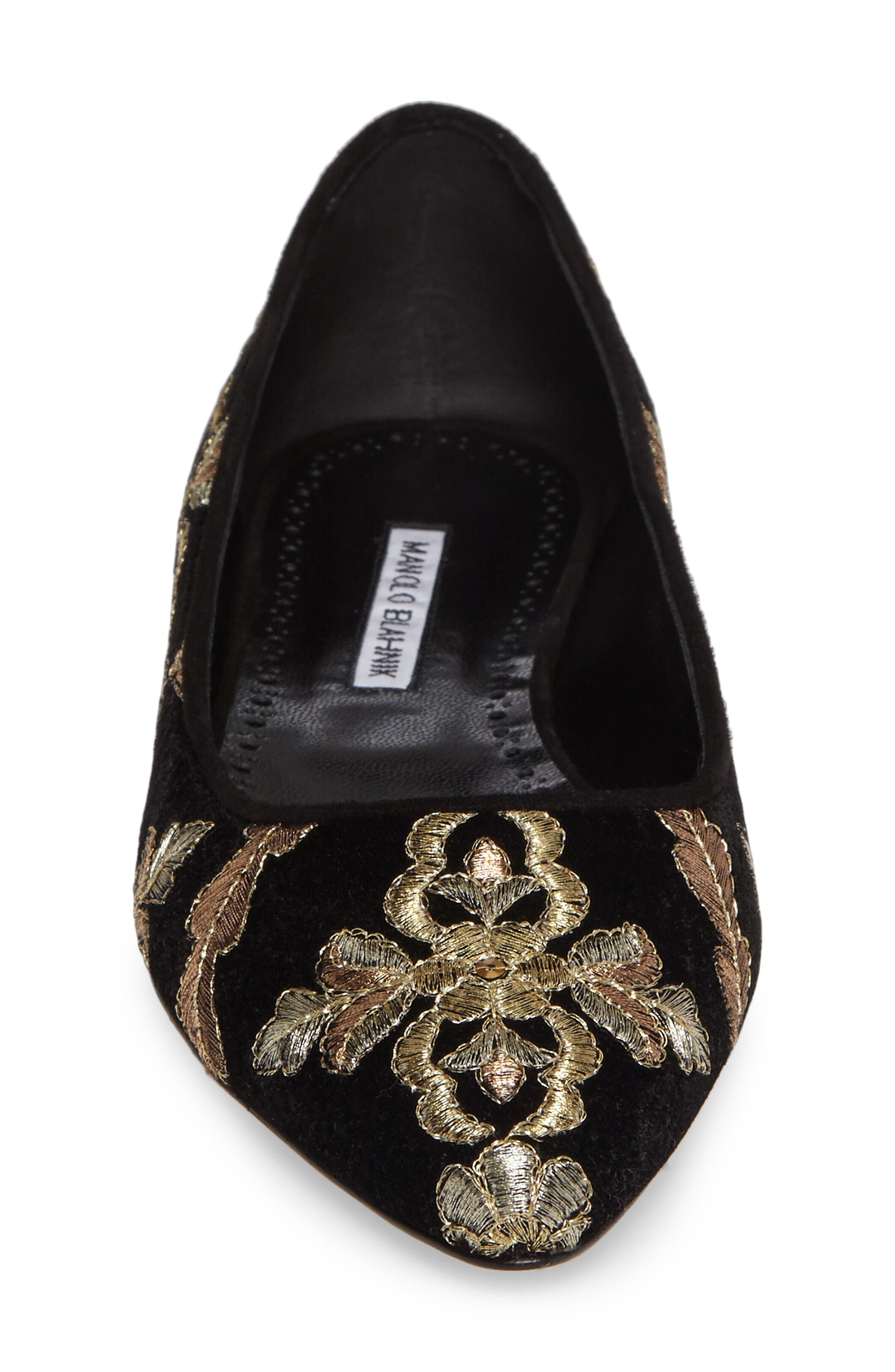 Alternate Image 4  - Manolo Blahnik Tittermo Floral Embroidered Ballet Flat (Women)