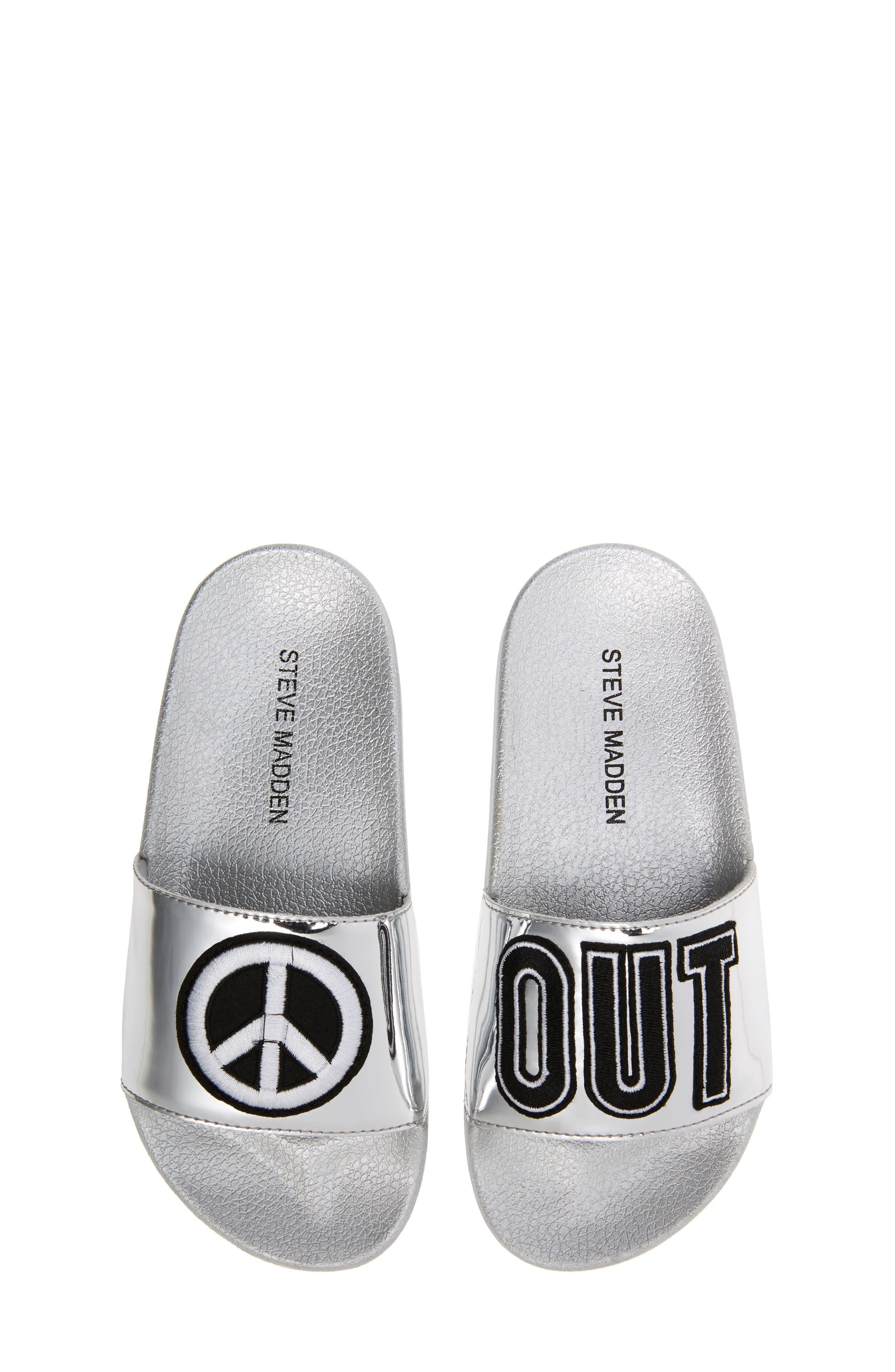 STEVE MADDEN Jgrltalk Appliqué Slide Sandal