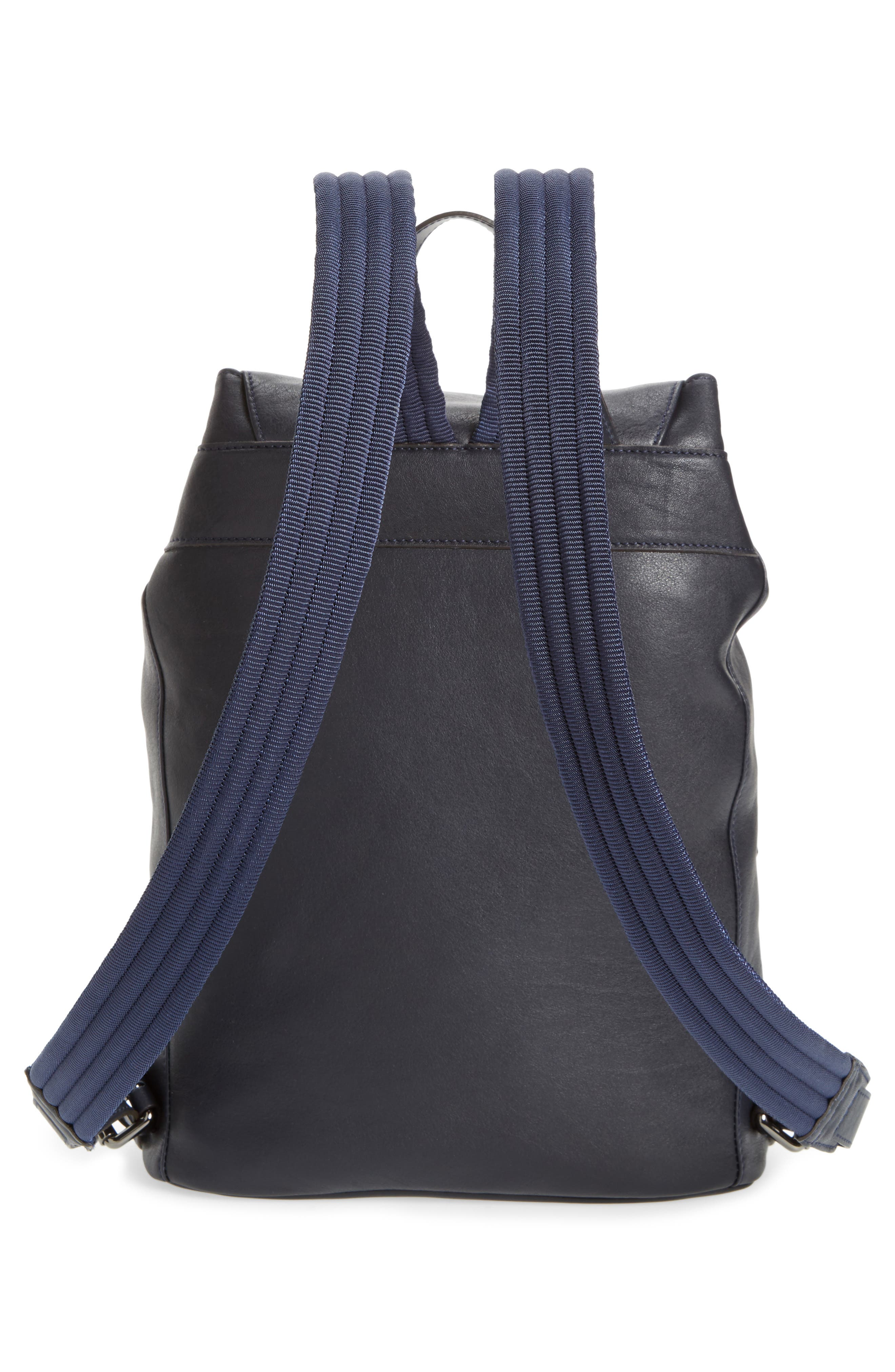 3D Leather Backpack,                             Alternate thumbnail 2, color,                             Midnight Blue