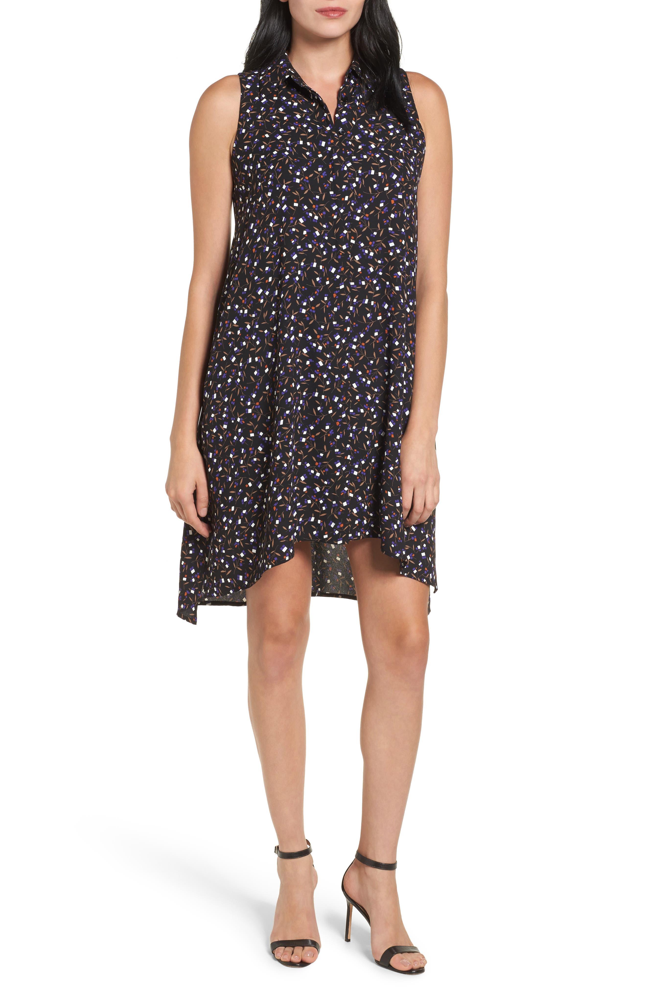 Polo Dress,                             Main thumbnail 1, color,                             Black/ Mushroom Combo