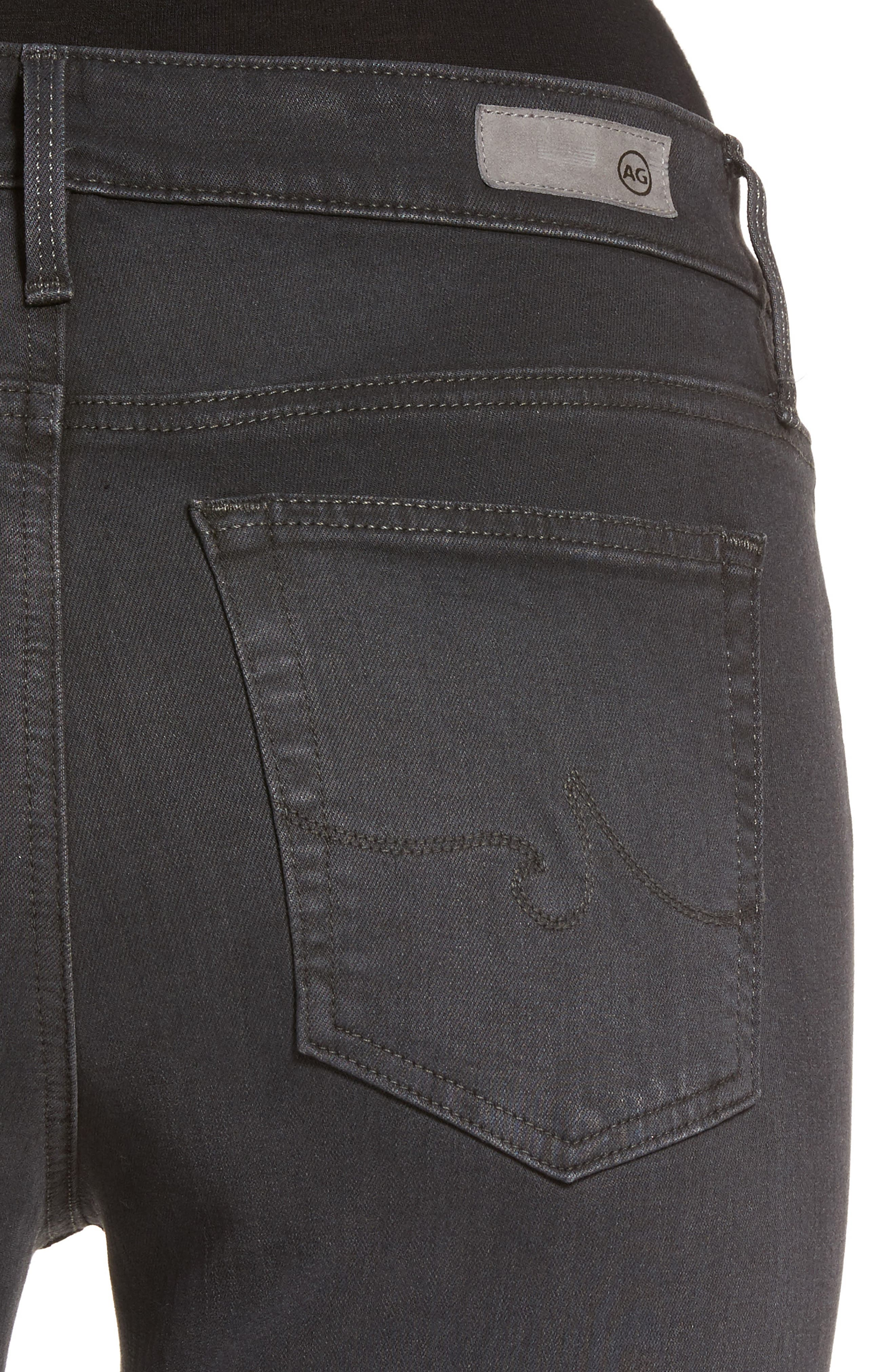 Alternate Image 4  - AG Farrah High Waist Ankle Skinny Jeans (Grey Mist)
