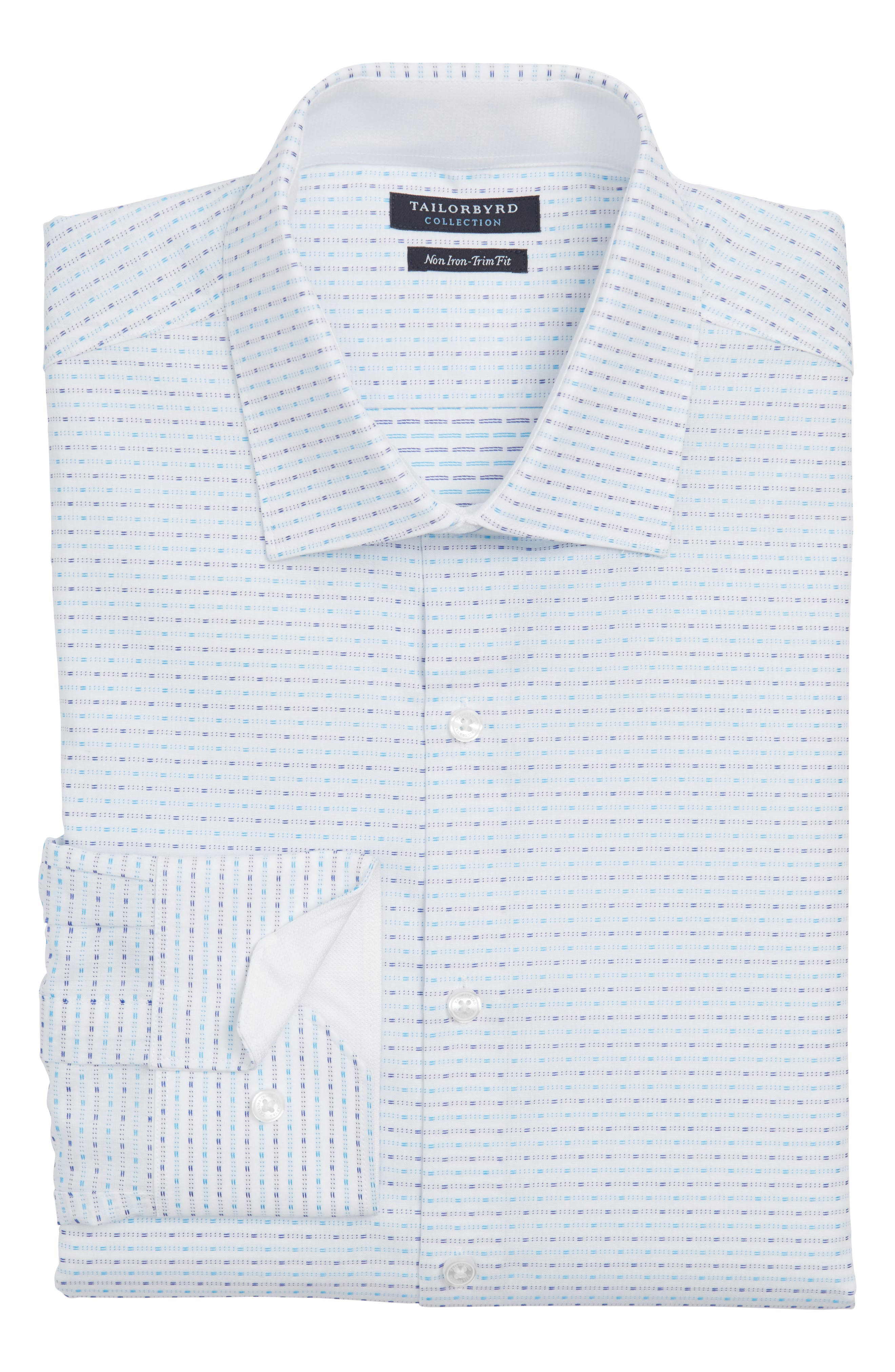 Trim Fit Non-Iron Dress Shirt,                         Main,                         color, Blue