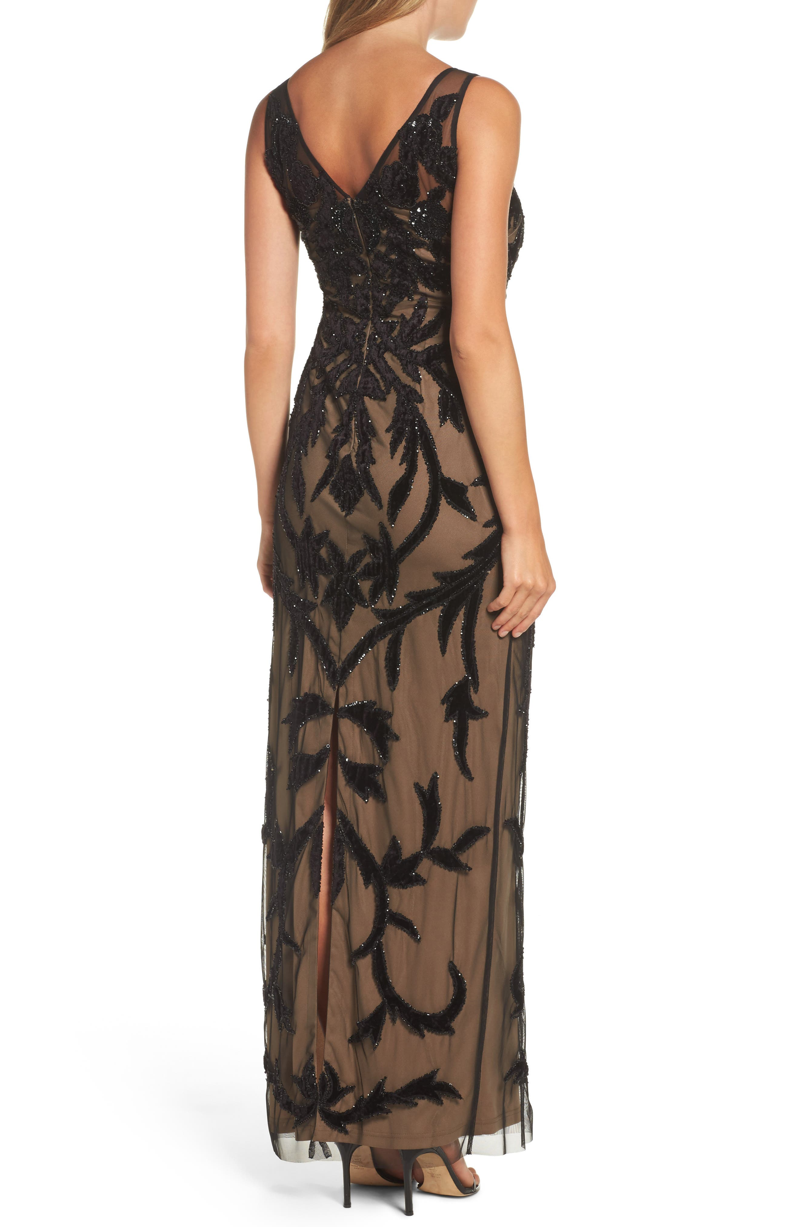 Alternate Image 2  - Adrianna Papell Beaded Mesh Gown