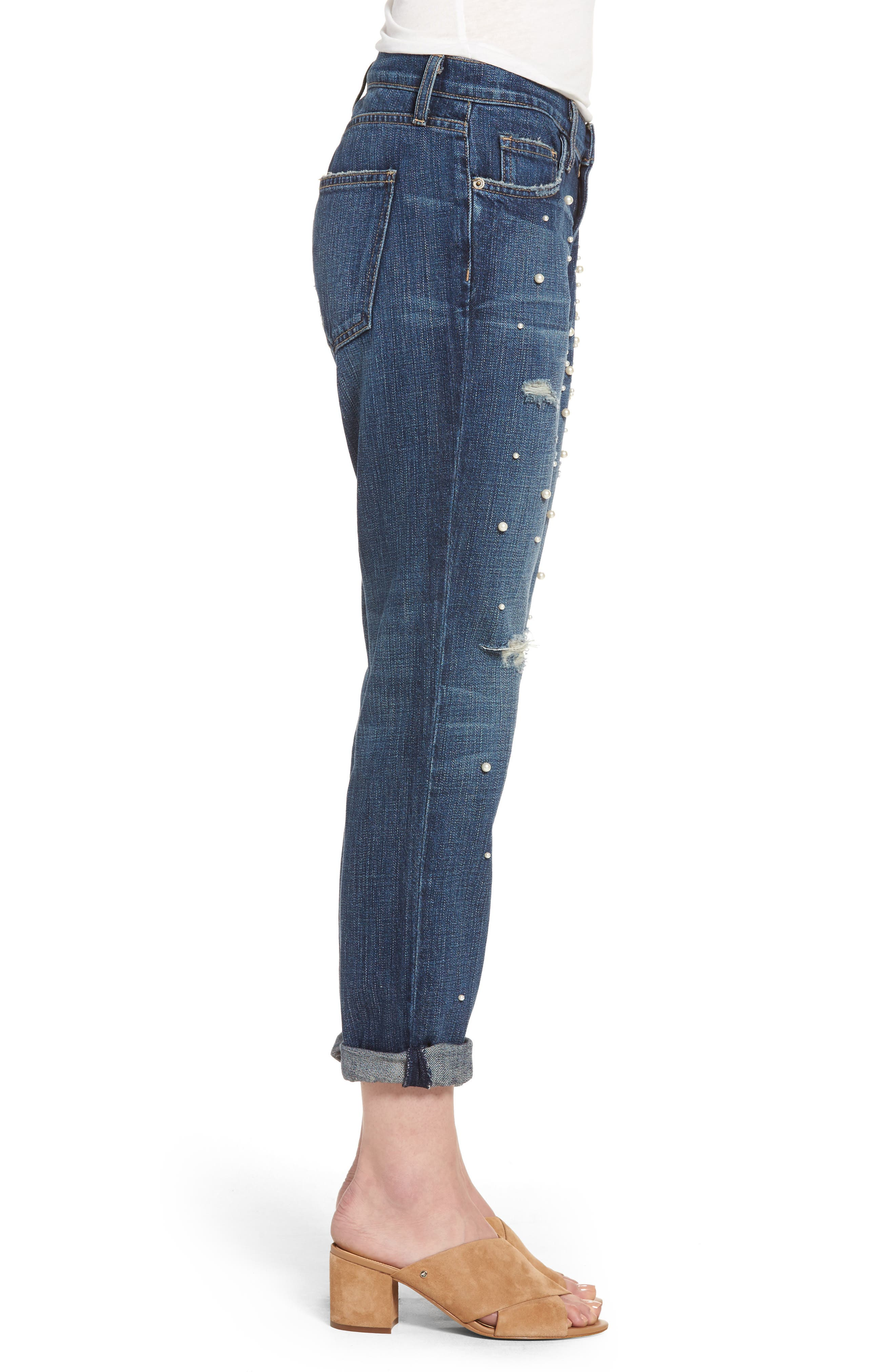 Alternate Image 3  - Current/Elliott 'The Fling' Boyfriend Jeans (Loved)