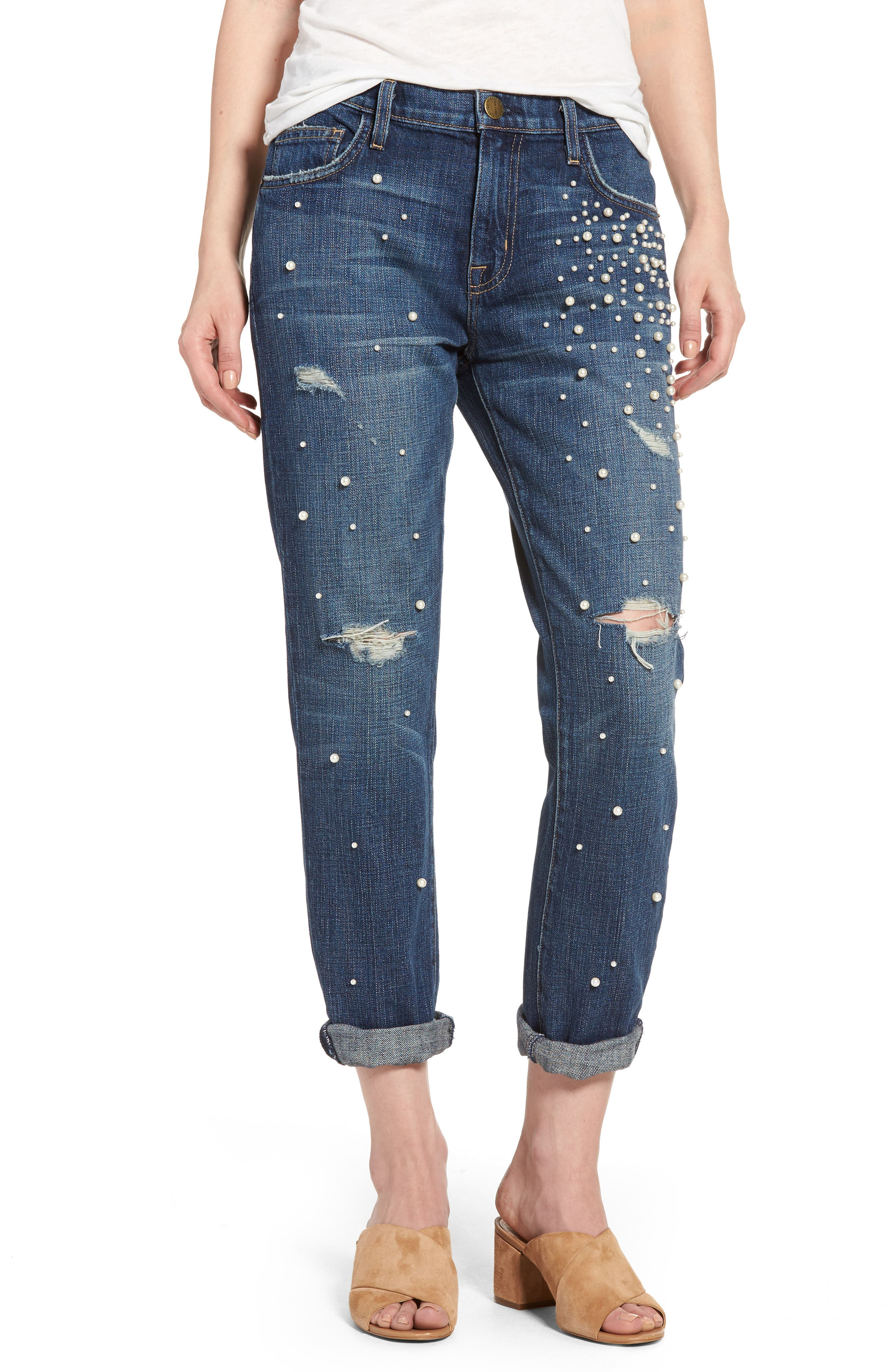 'The Fling' Boyfriend Jeans,                         Main,                         color, Washed Loved Destroy/ Pearls