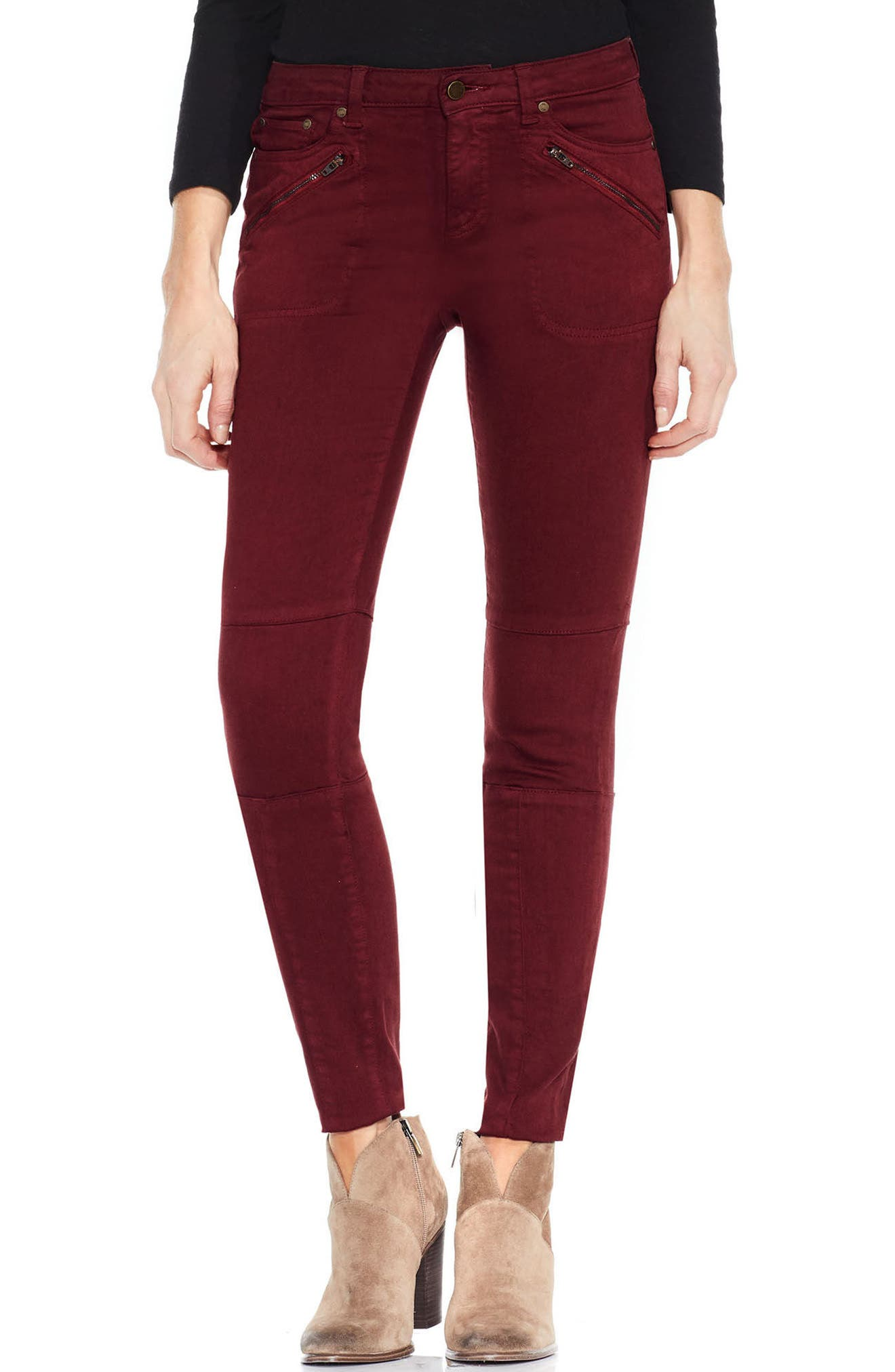 Main Image - Two by Vince Camuto D-Luxe Twill Moto Jeans