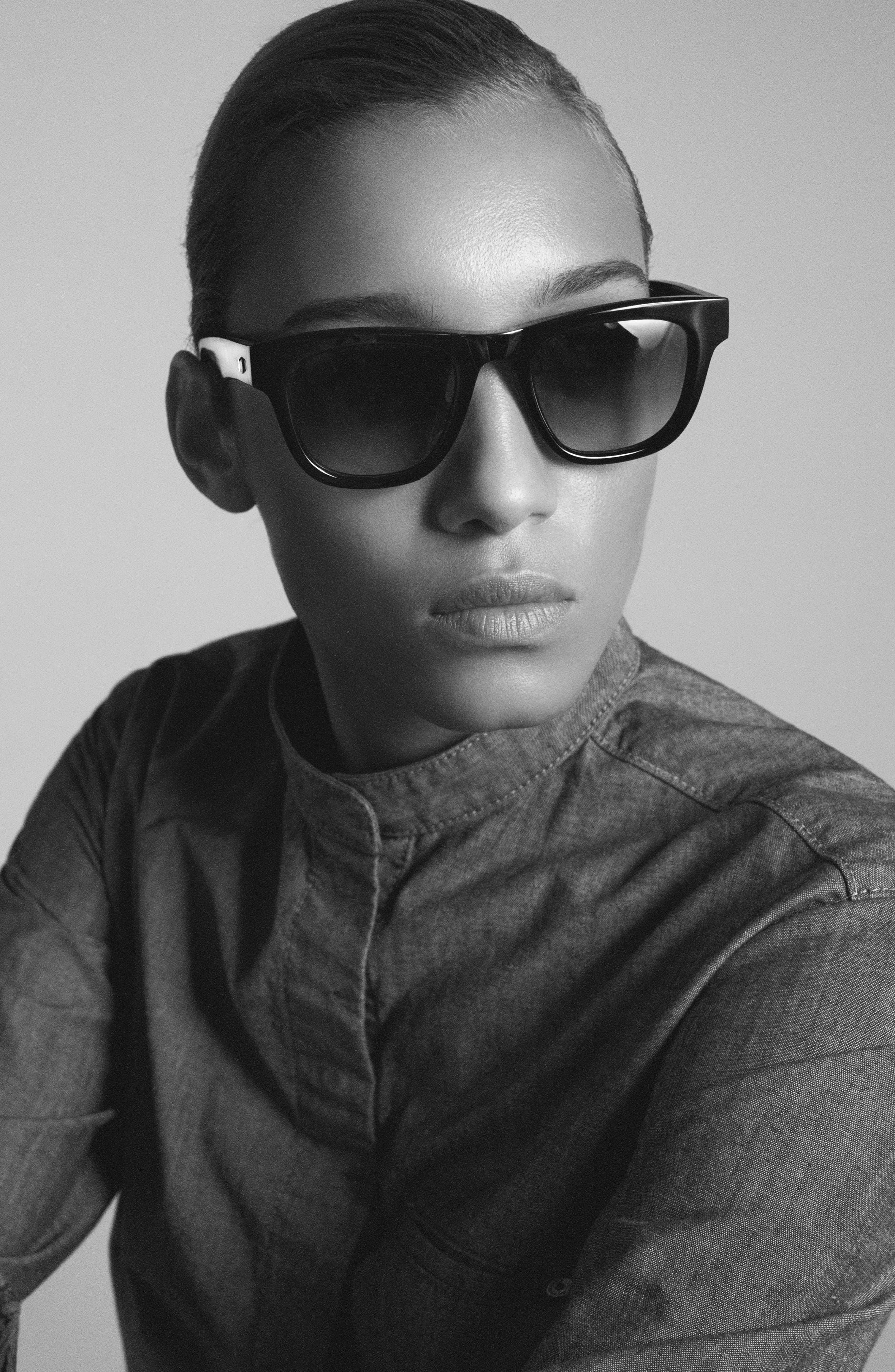 James Sunglasses,                             Alternate thumbnail 3, color,                             Black