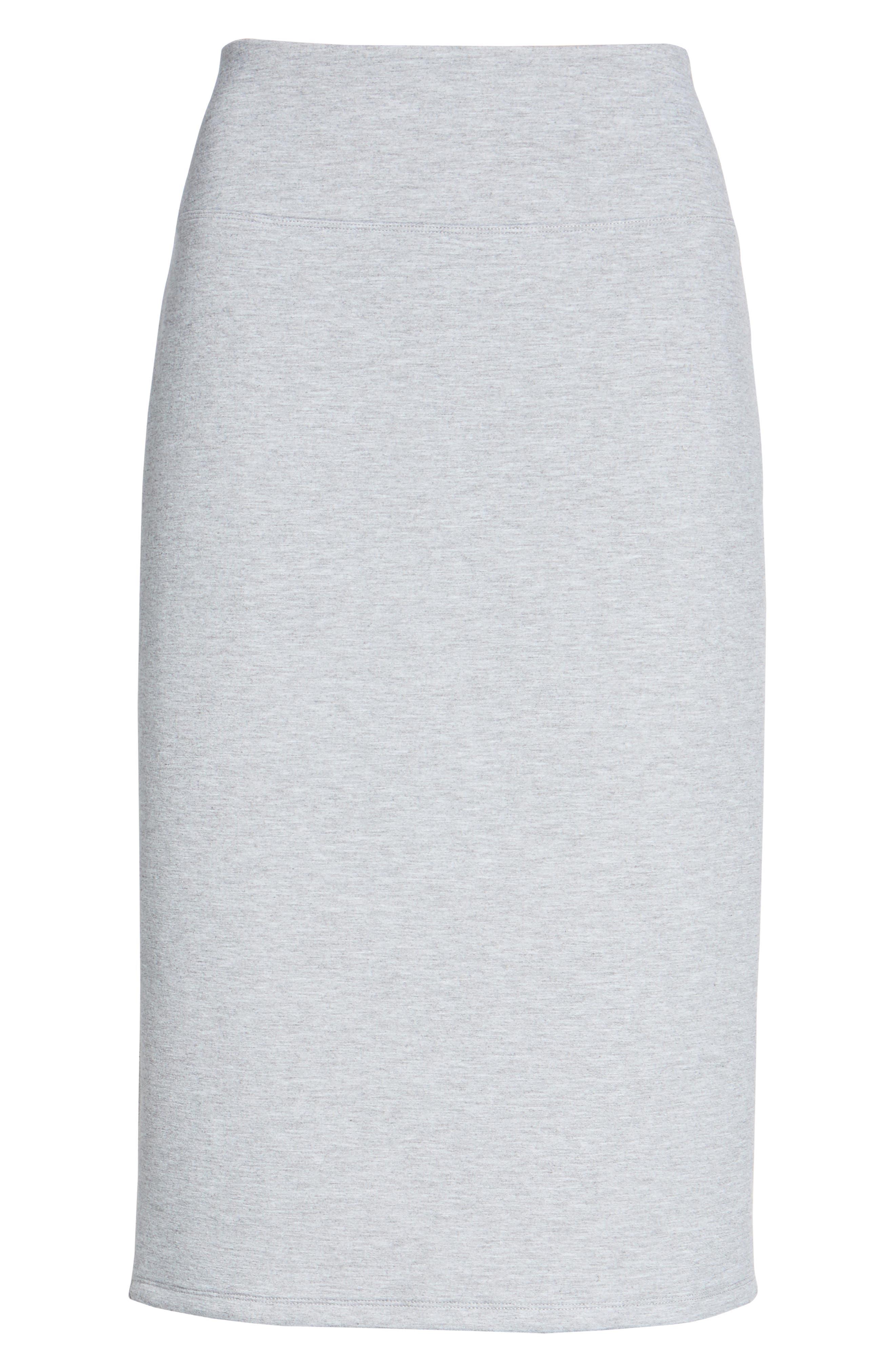 Alternate Image 6  - Halogen® Neoprene Knit Pencil Skirt (Regular & Petite)