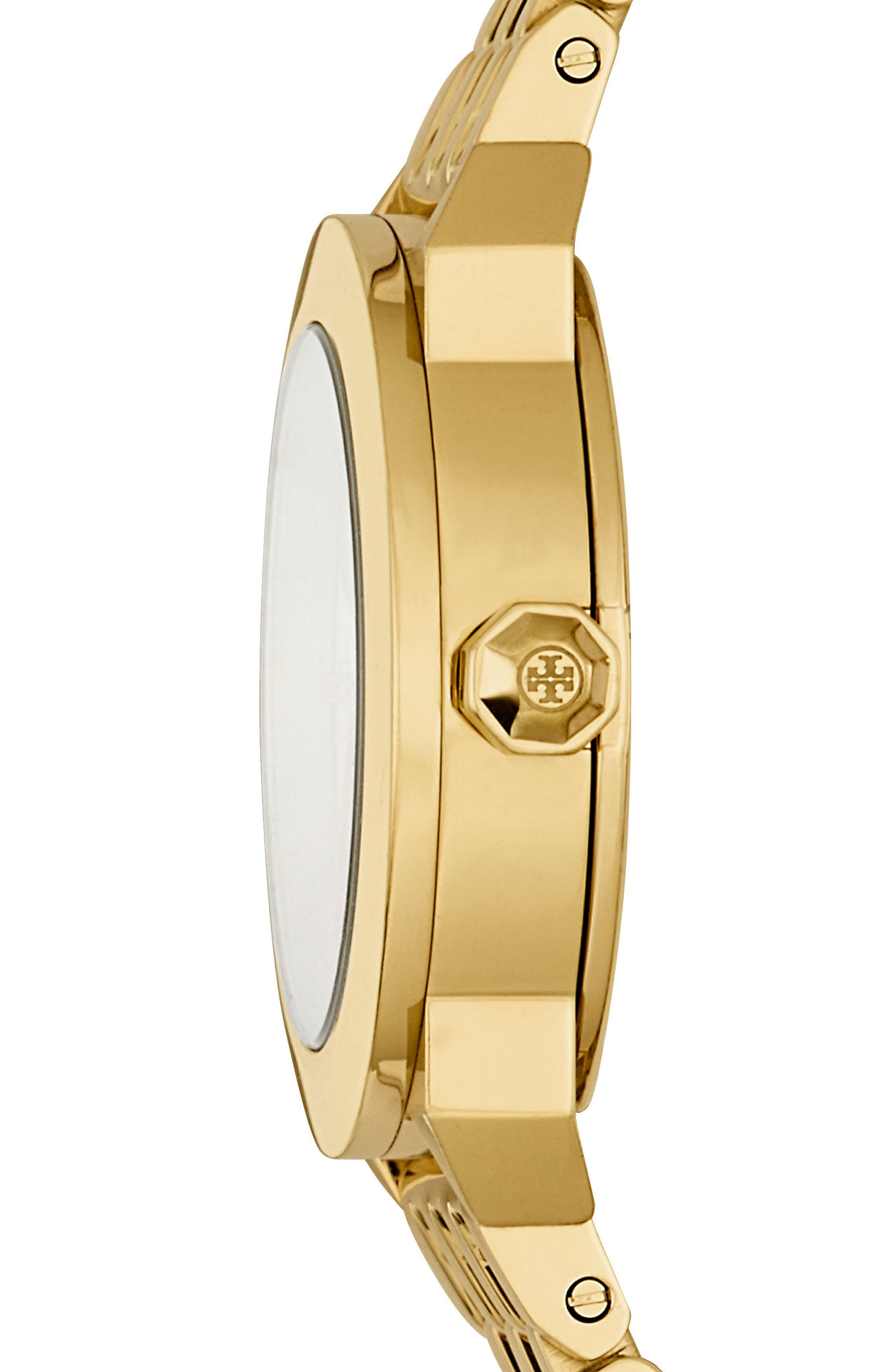 Whitney Bracelet Watch, 35mm,                             Alternate thumbnail 2, color,                             Gold/ Navy/ Gold