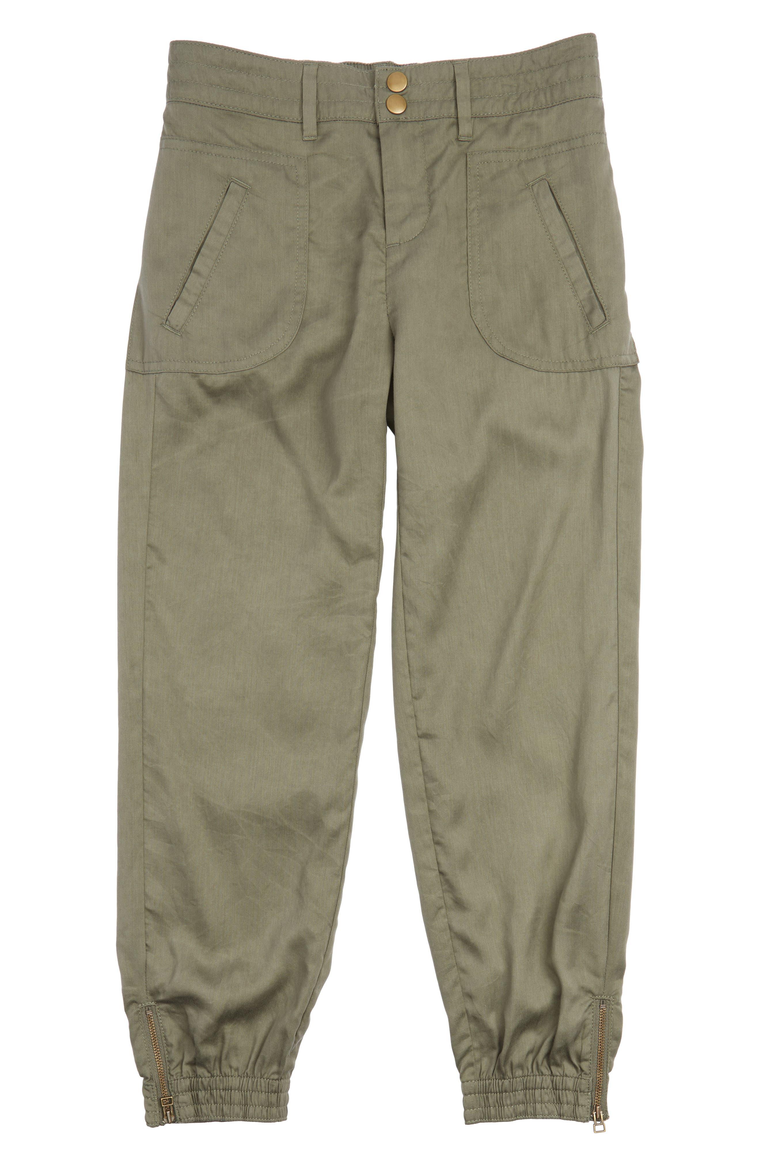 Woven Jogger Pants,                             Main thumbnail 1, color,                             Olive Grove