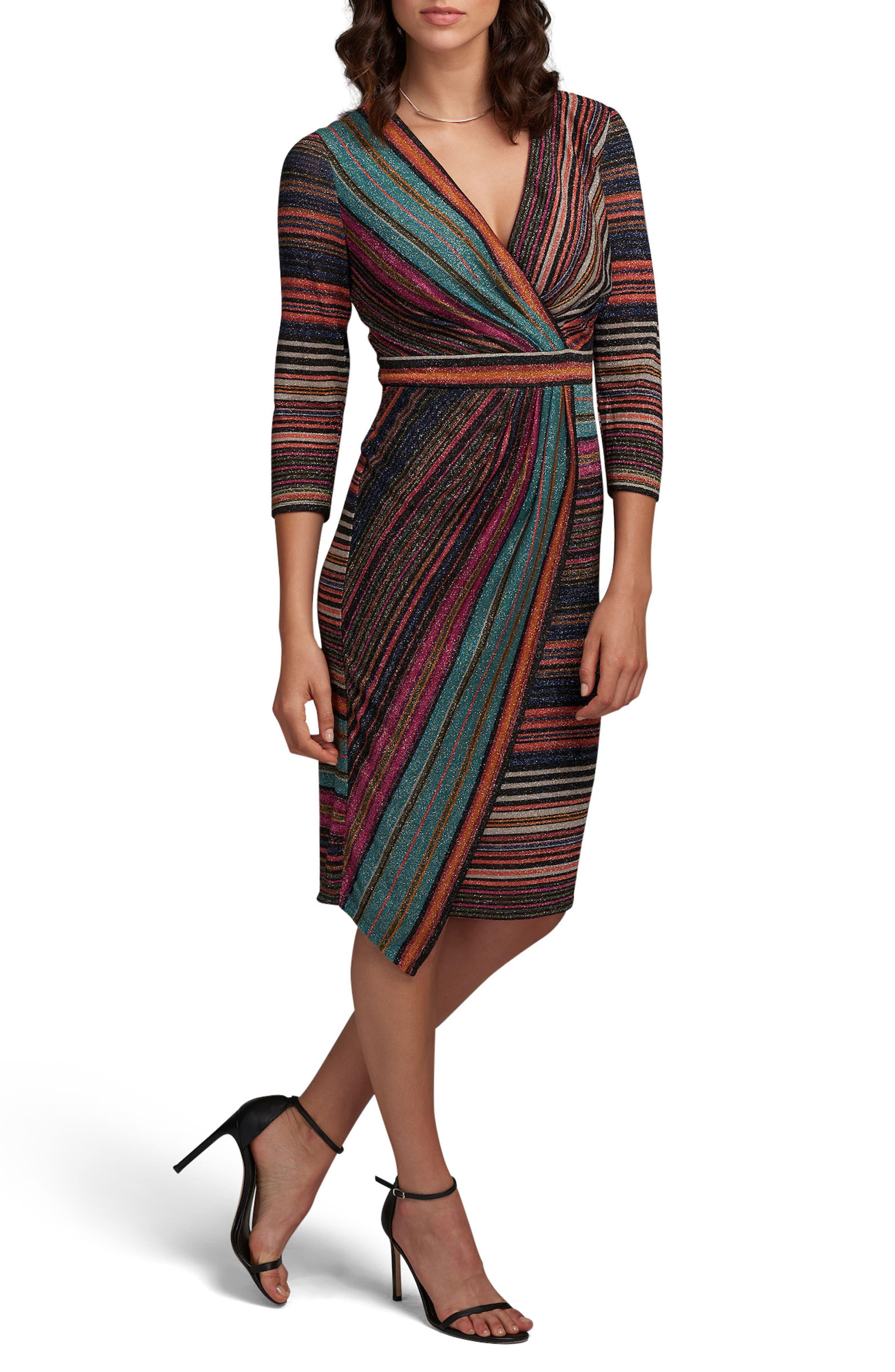 Stripe Sheath Dress,                         Main,                         color, Multi