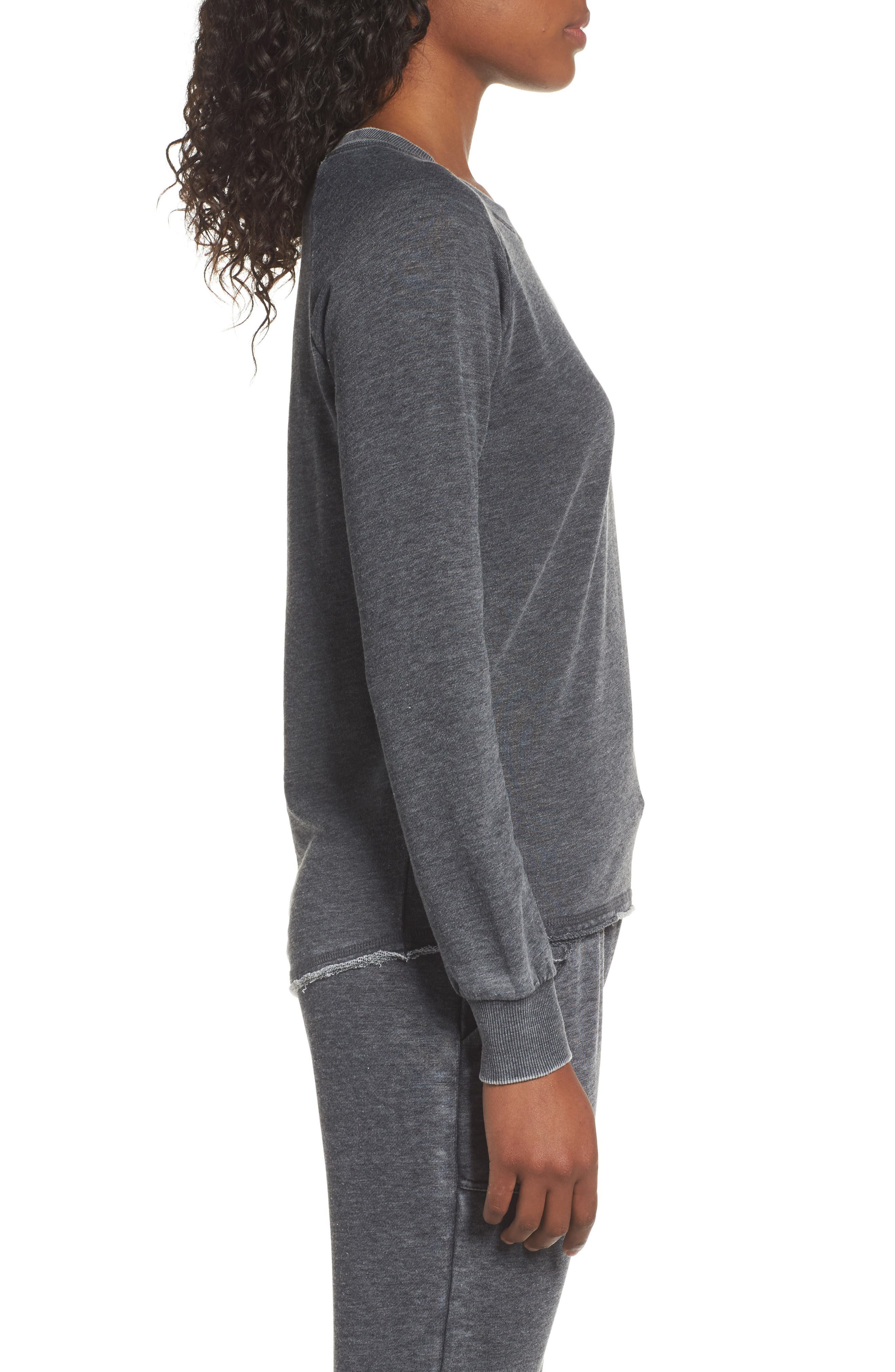 Lazy Day Pullover,                             Alternate thumbnail 3, color,                             Washed Black