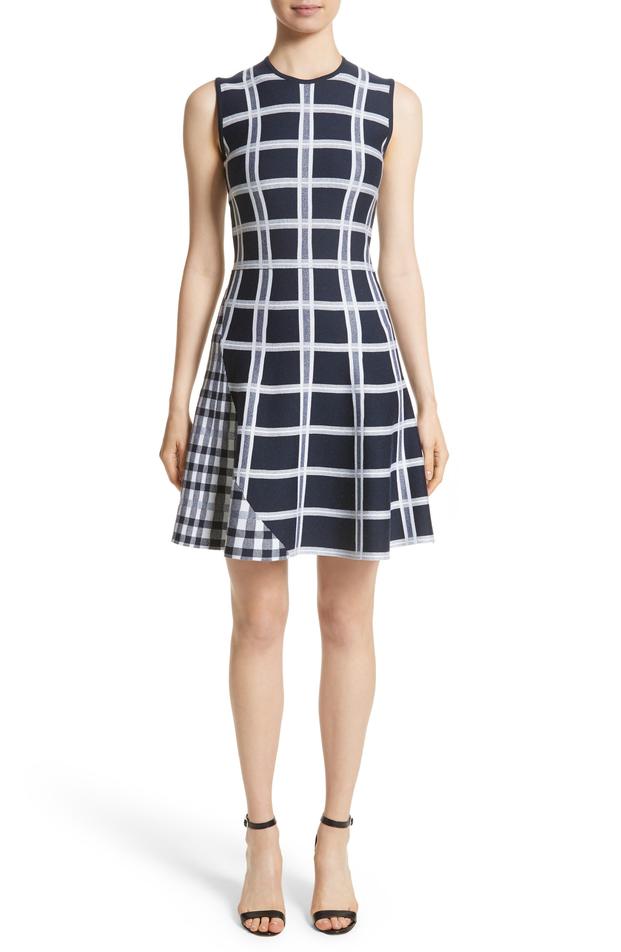Victoria Beckham Intarsia Tartan Check Dress