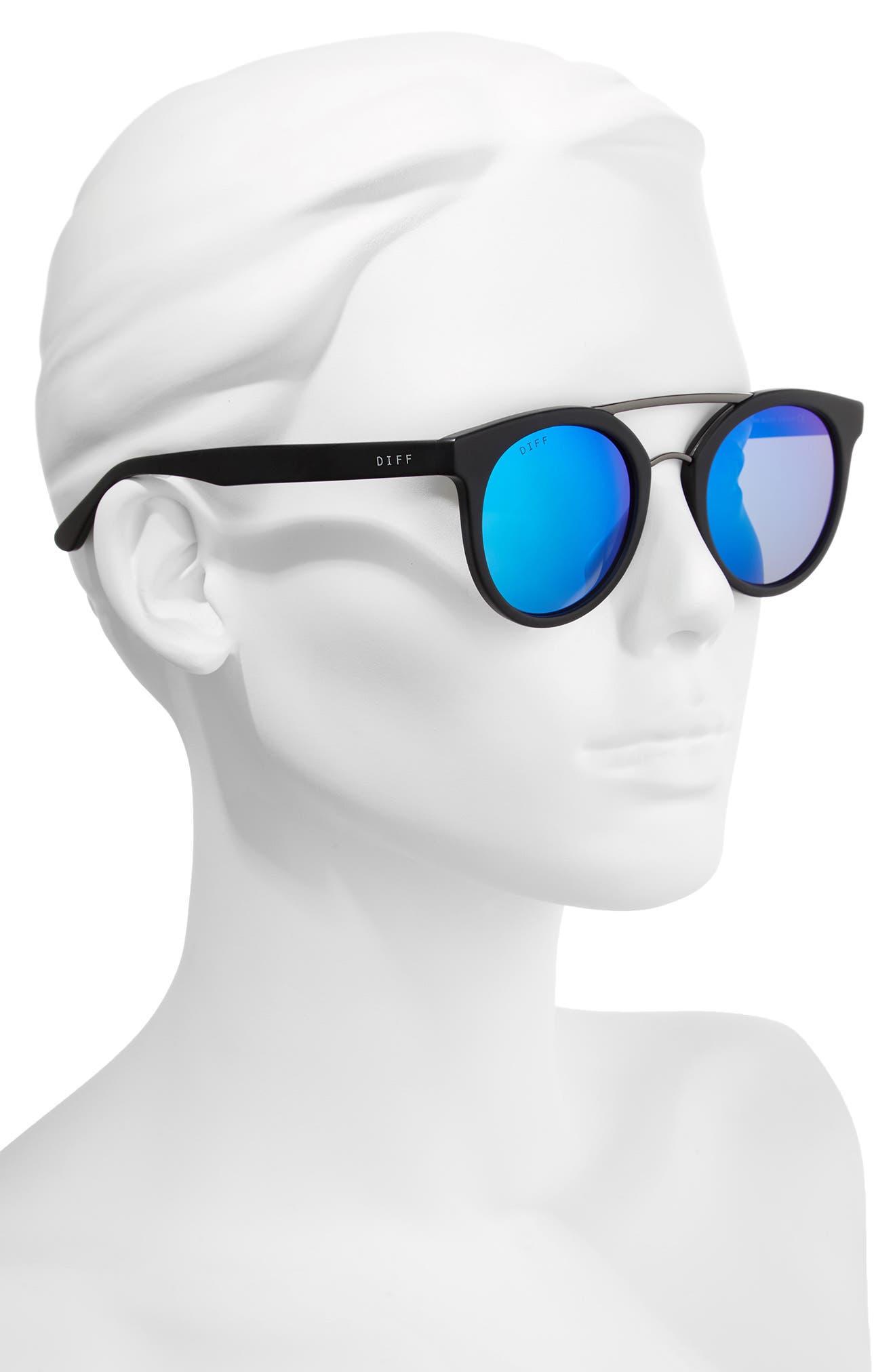 Alternate Image 2  - DIFF Astro 49mm Polarized Aviator Sunglasses