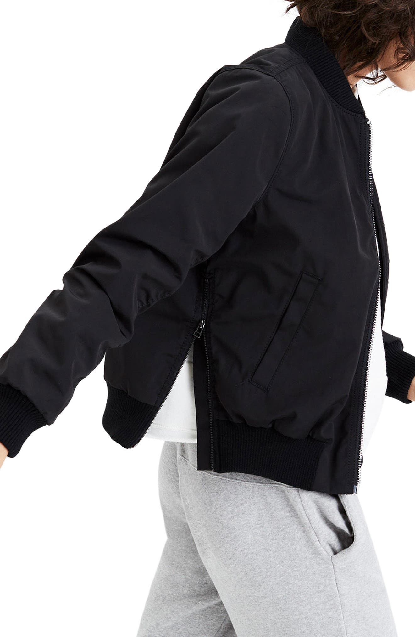 Alternate Image 3  - Madewell Side Zip Bomber Jacket